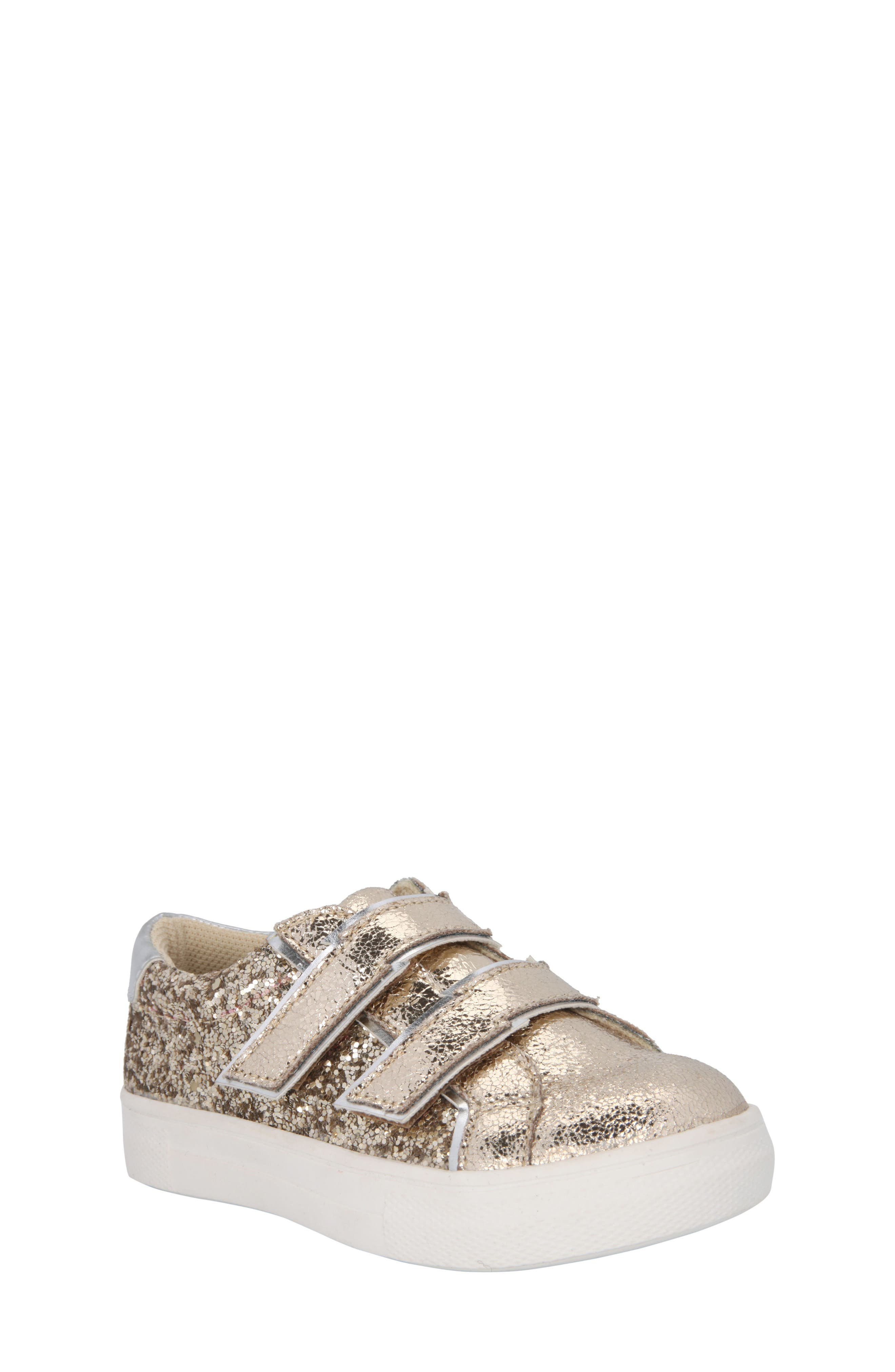 Nina Ashley Glittery Metallic Sneaker (Walker, Toddler, Little Kid & Big Kid)