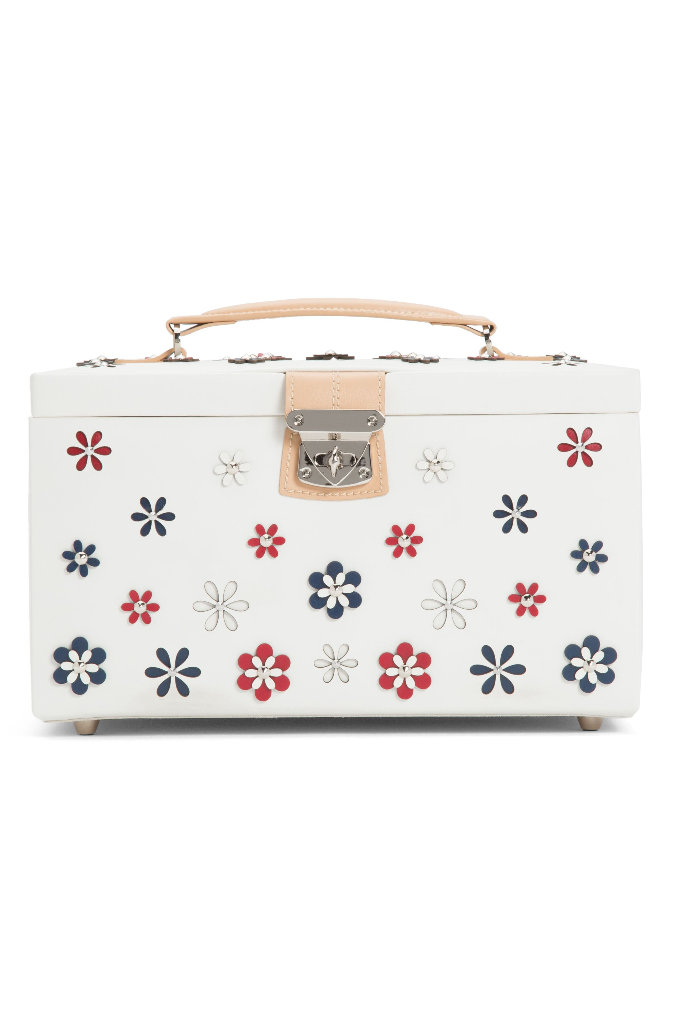 Large Blossom Jewelry Box,                         Main,                         color, Ivory
