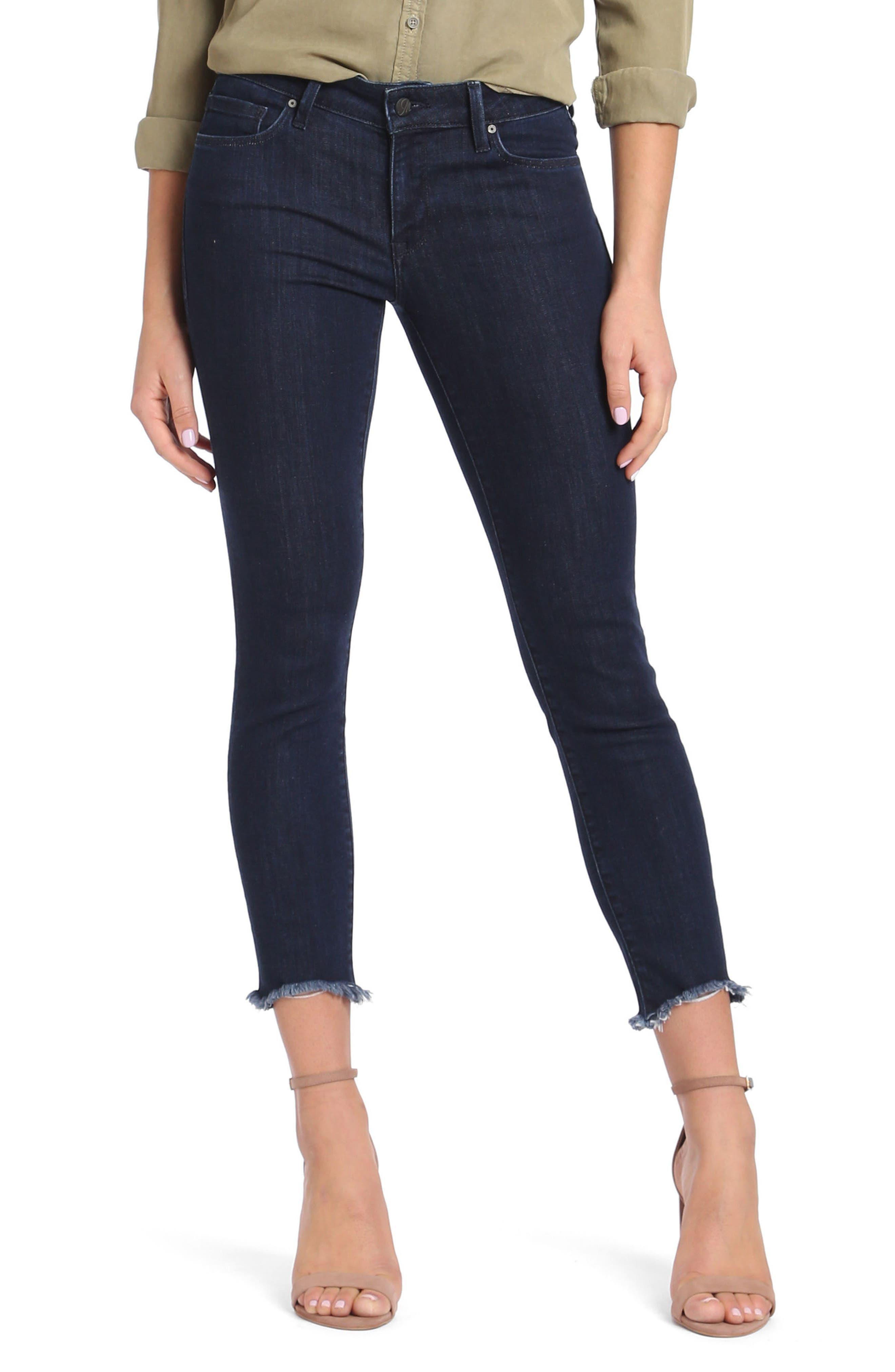 Alternate Image 1 Selected - Mavi Jeans Adriana Ankle Skinny Jeans (Rinse Tribeca)