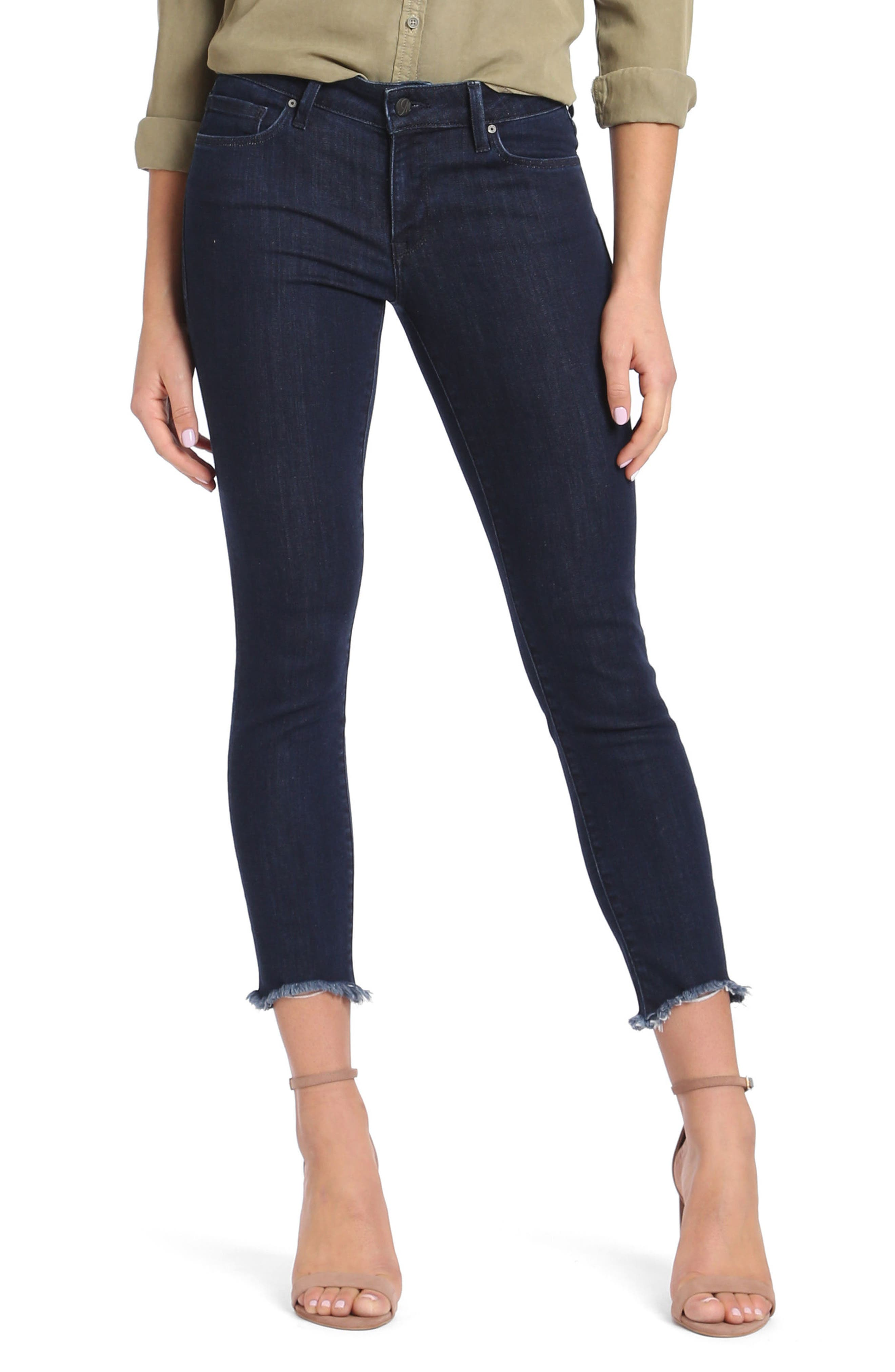 Adriana Ankle Skinny Jeans,                         Main,                         color, Rinse Tribeca