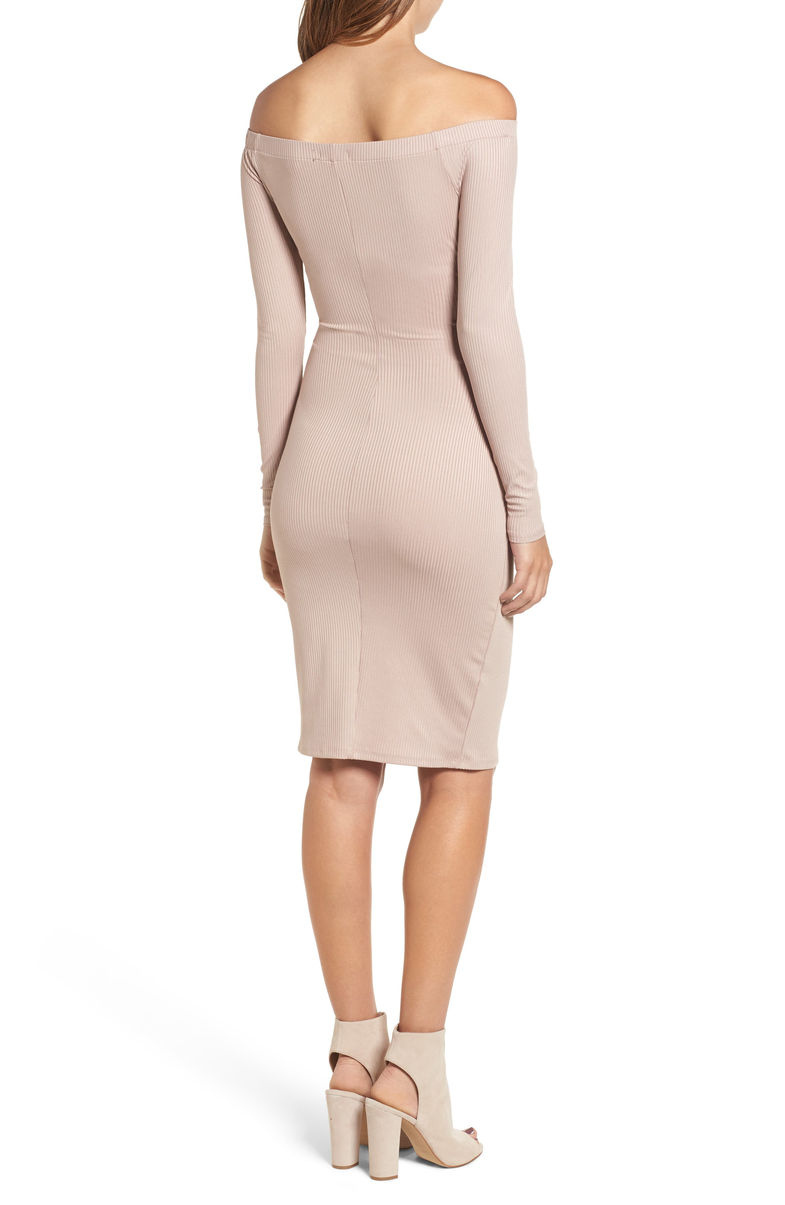 Alternate Image 2  - Love, Fire Off the Shoulder Corset Dress