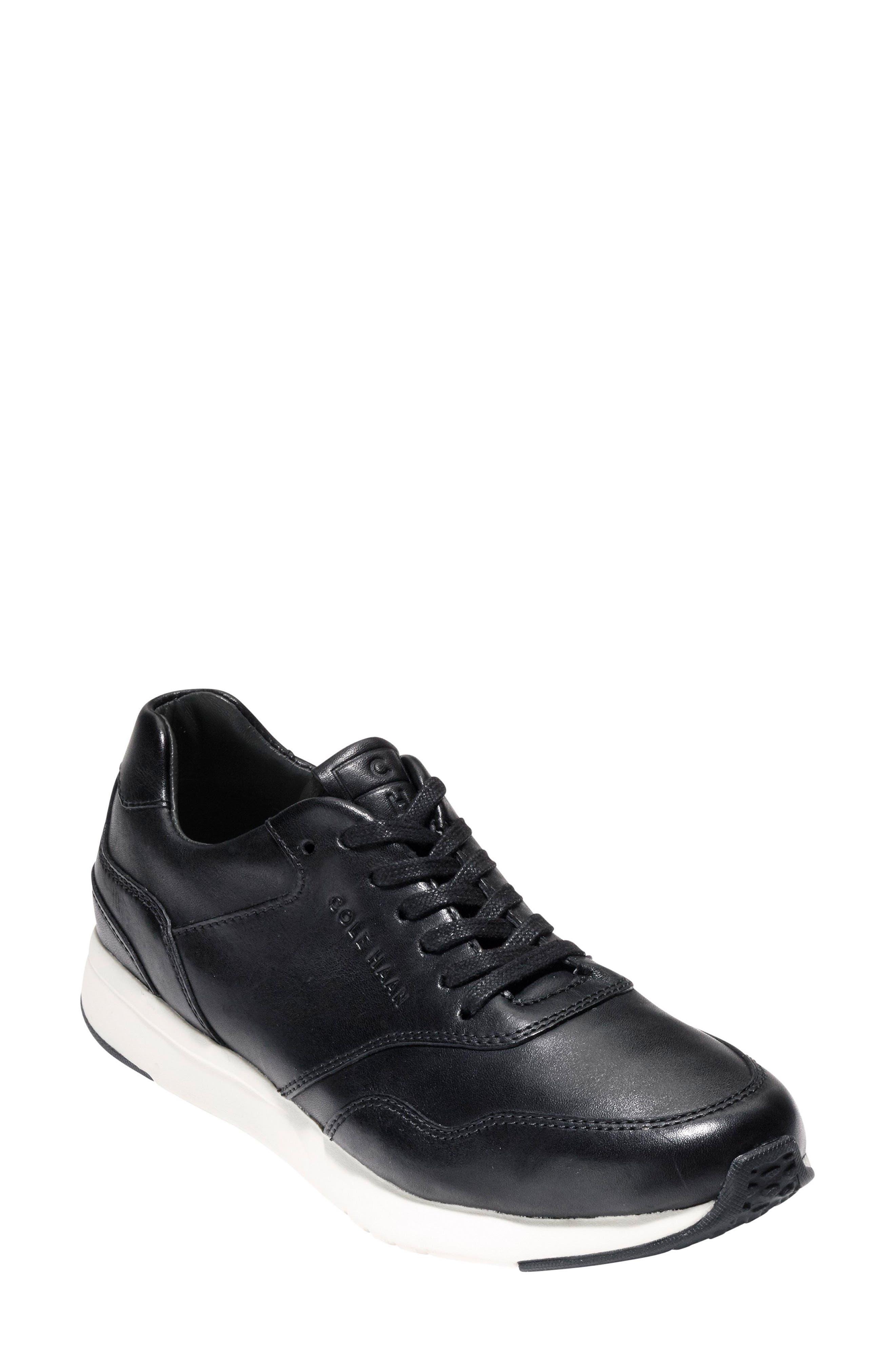 Grandpro Runner Sneaker,                         Main,                         color, Black/ Optic White Leather