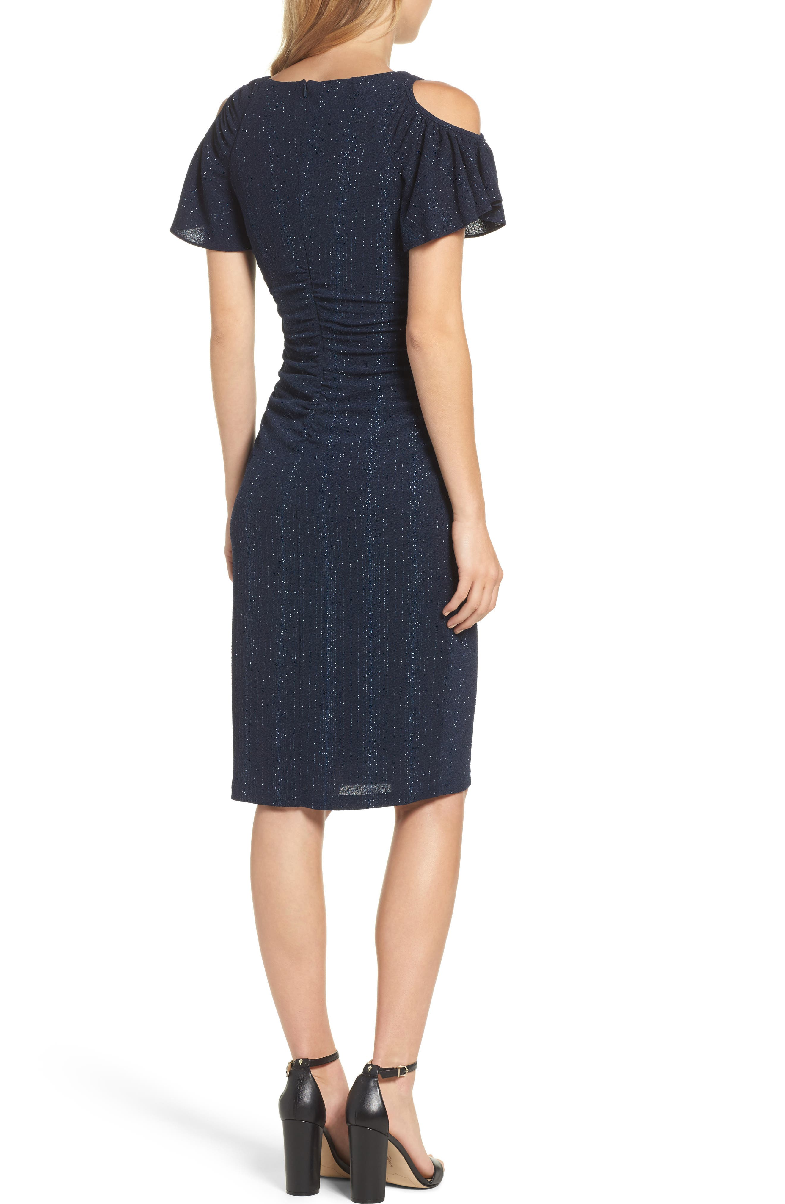 Alternate Image 2  - Adrianna Papell Cold Shoulder Sheath Dress