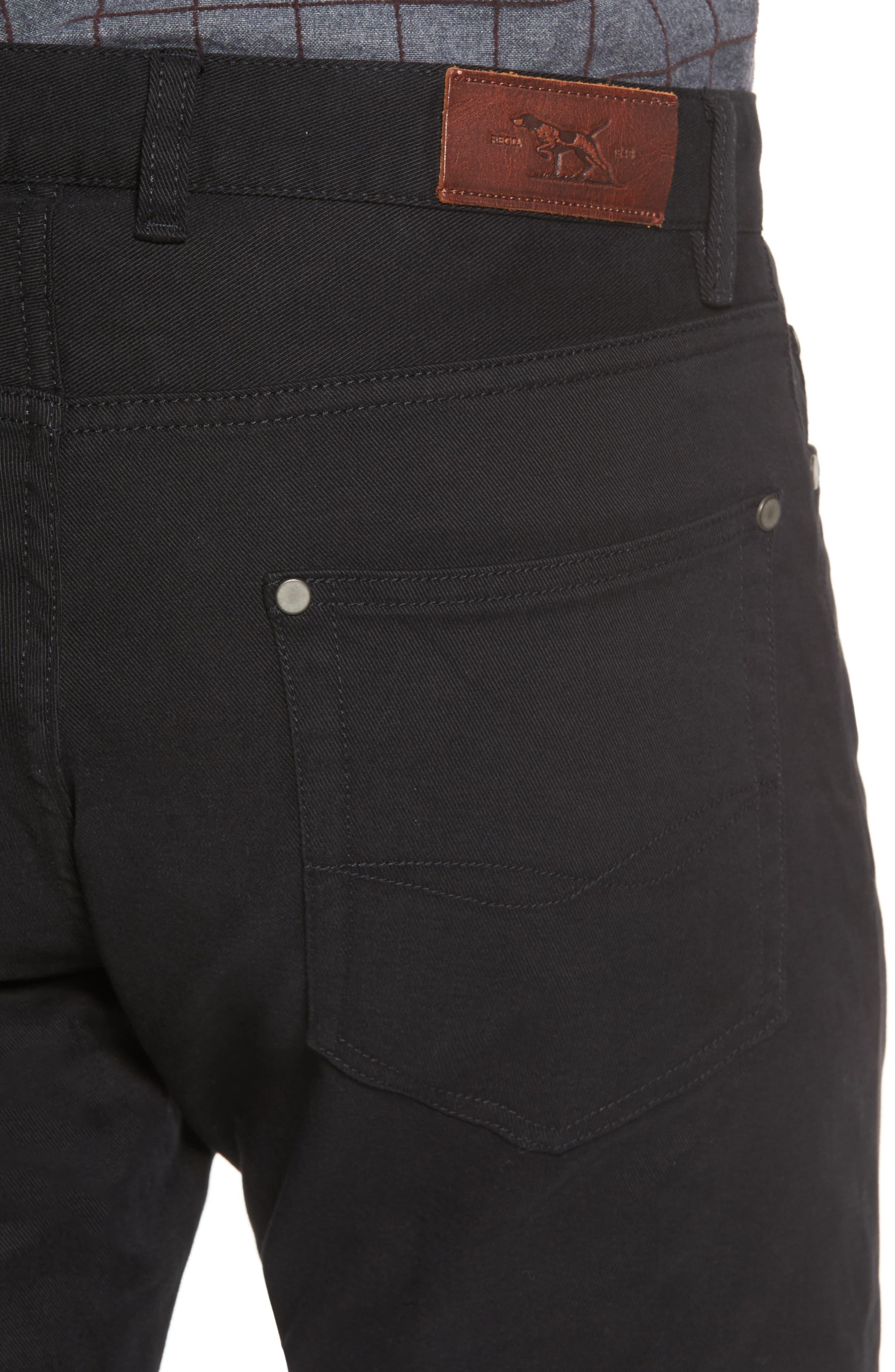 'Barters' Straight Leg Twill Pants,                             Alternate thumbnail 4, color,                             Onyx