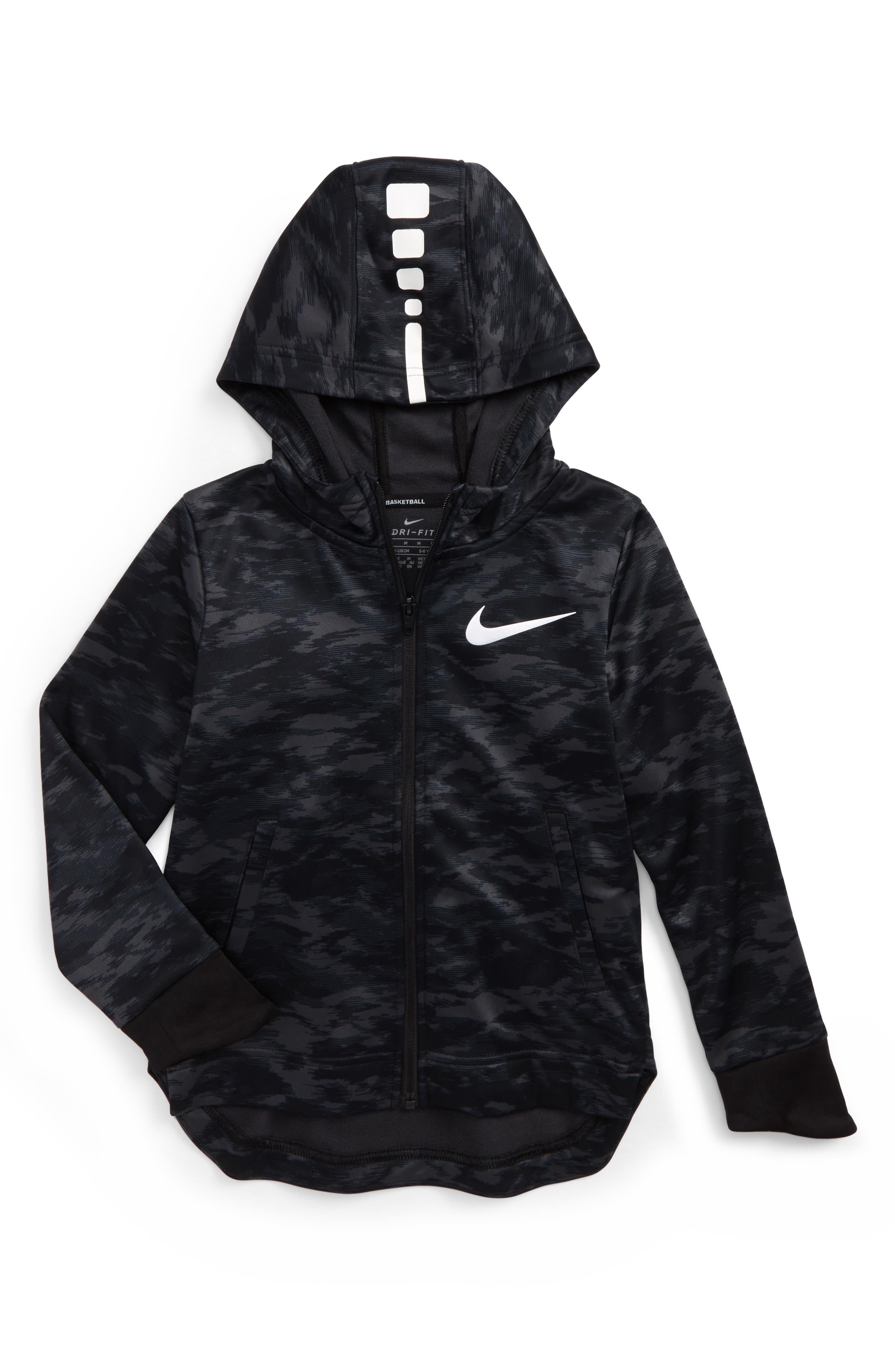 Main Image - Nike Elite Therma Zip Hoodie (Toddler Boys & Little Boys)
