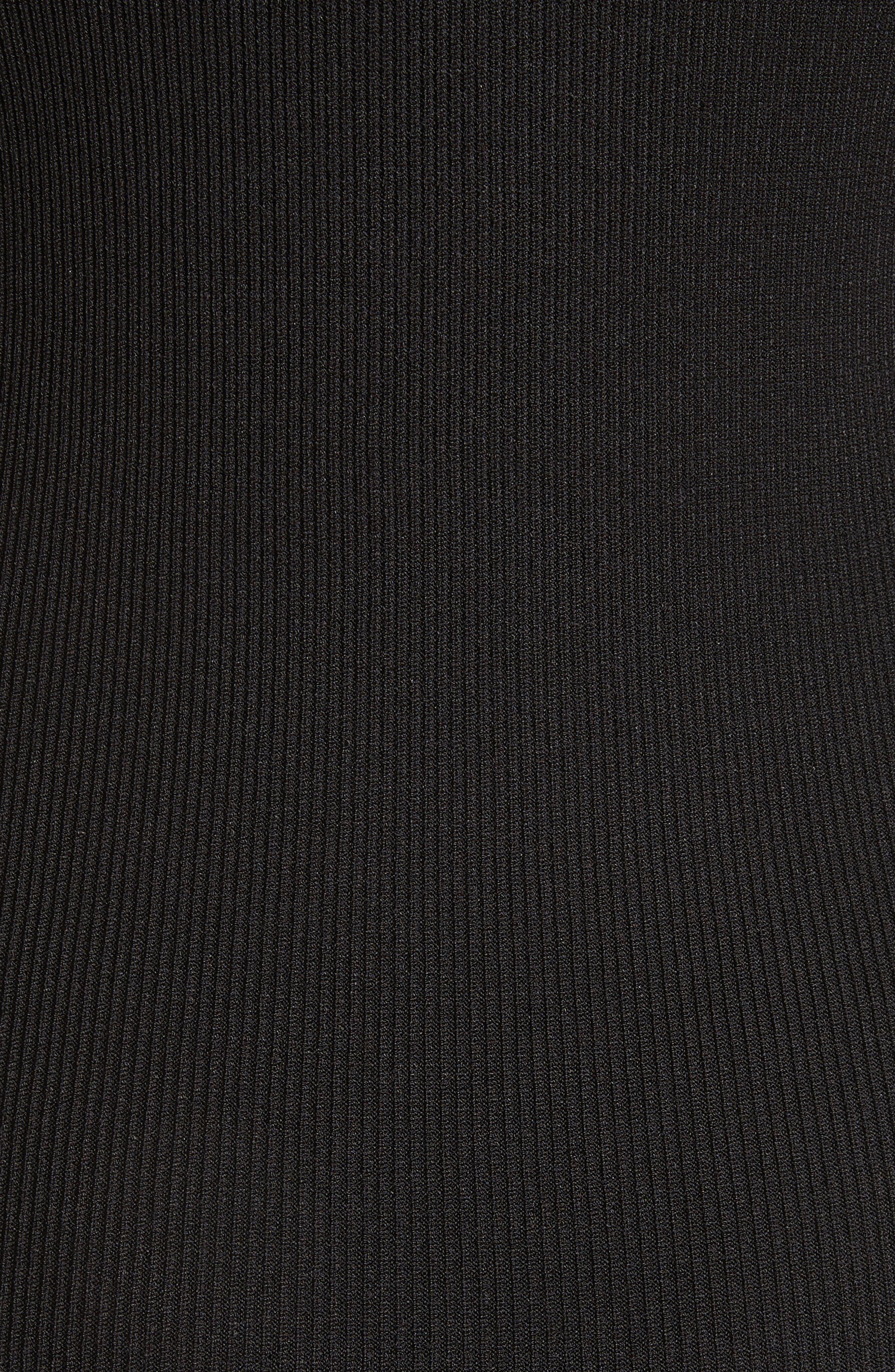 Asymmetrical Knit Dress,                             Alternate thumbnail 6, color,                             Black