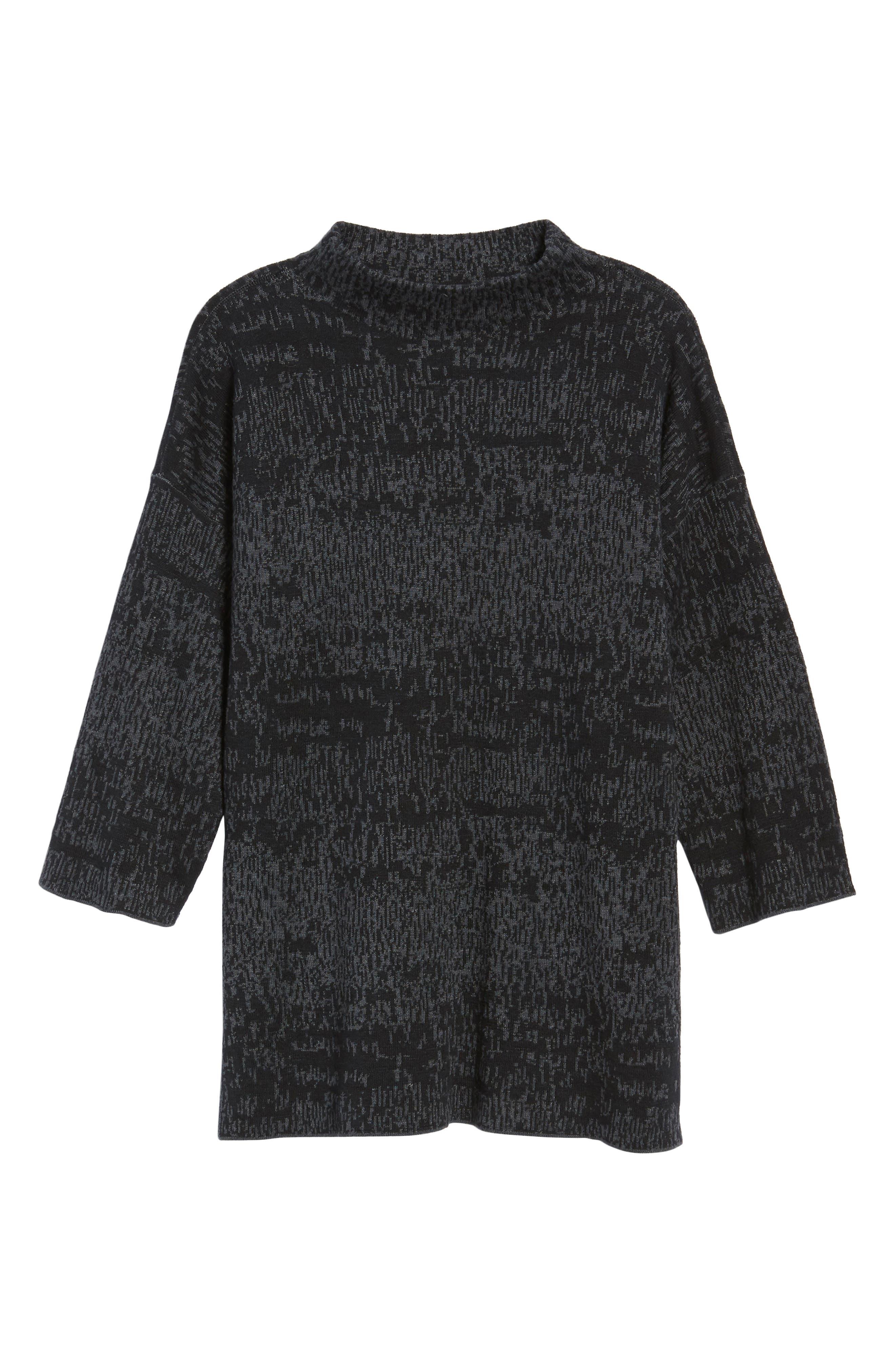 Alternate Image 6  - Eileen Fisher Funnel Neck Organic Linen Blend Sweater