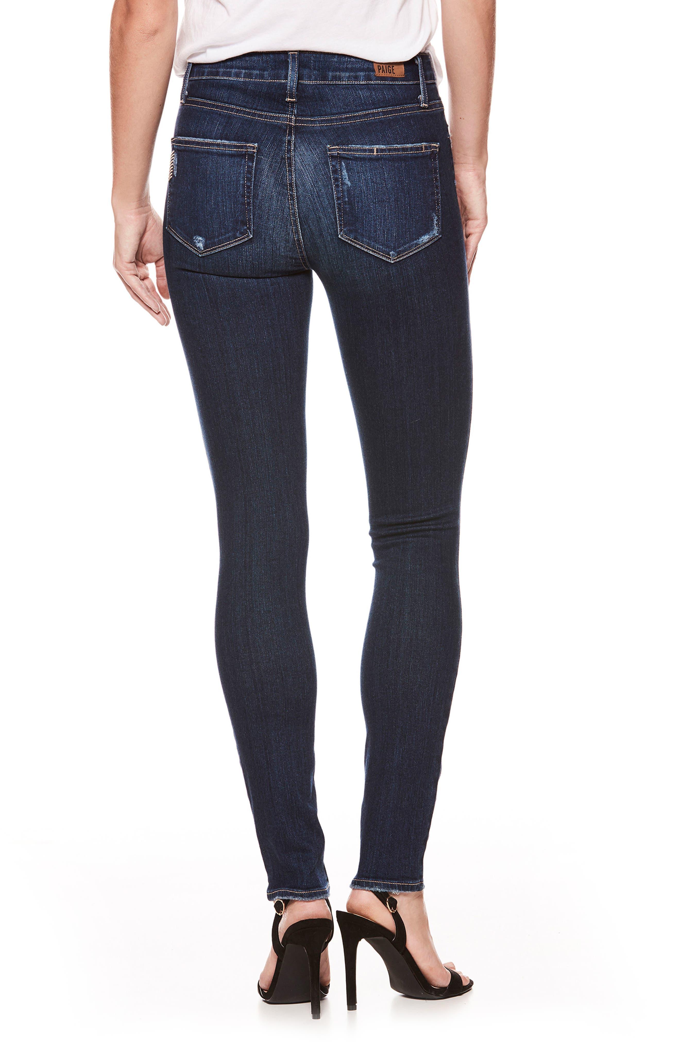Hoxton High Waist Skinny Jeans,                             Alternate thumbnail 2, color,                             Marina