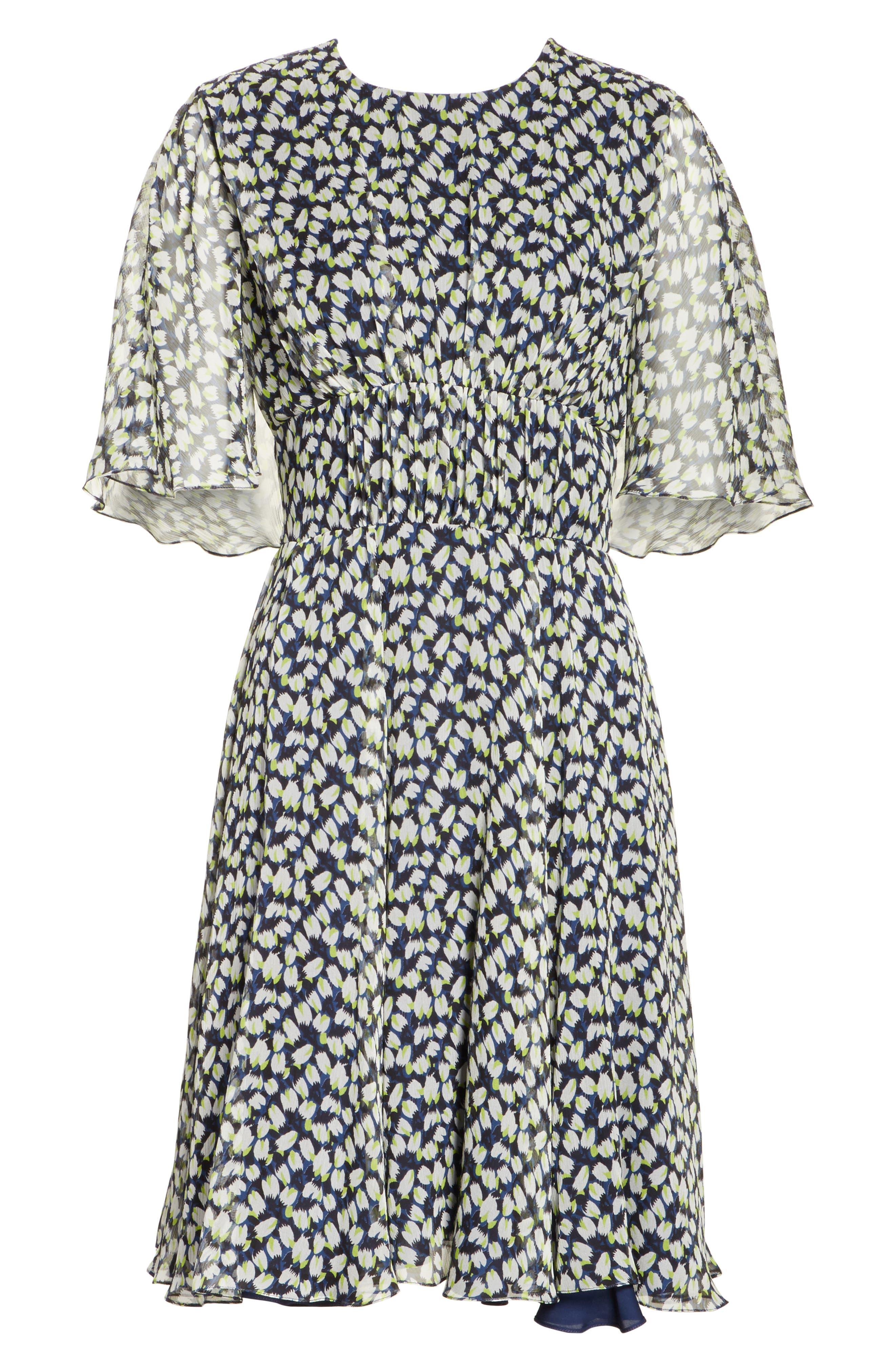 Alternate Image 6  - Jason Wu Print Silk Chiffon Day Dress
