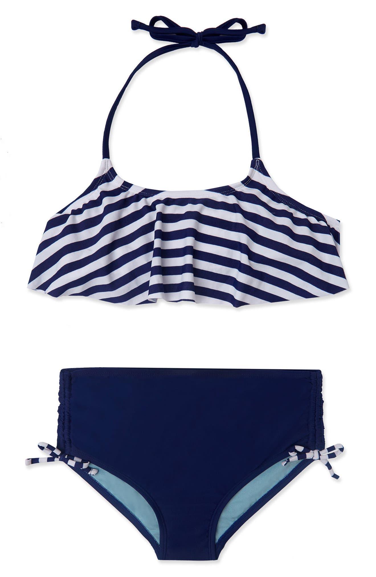 Gossip Girl Ships Ahoy Two-Piece Swimsuit (Big Girls)