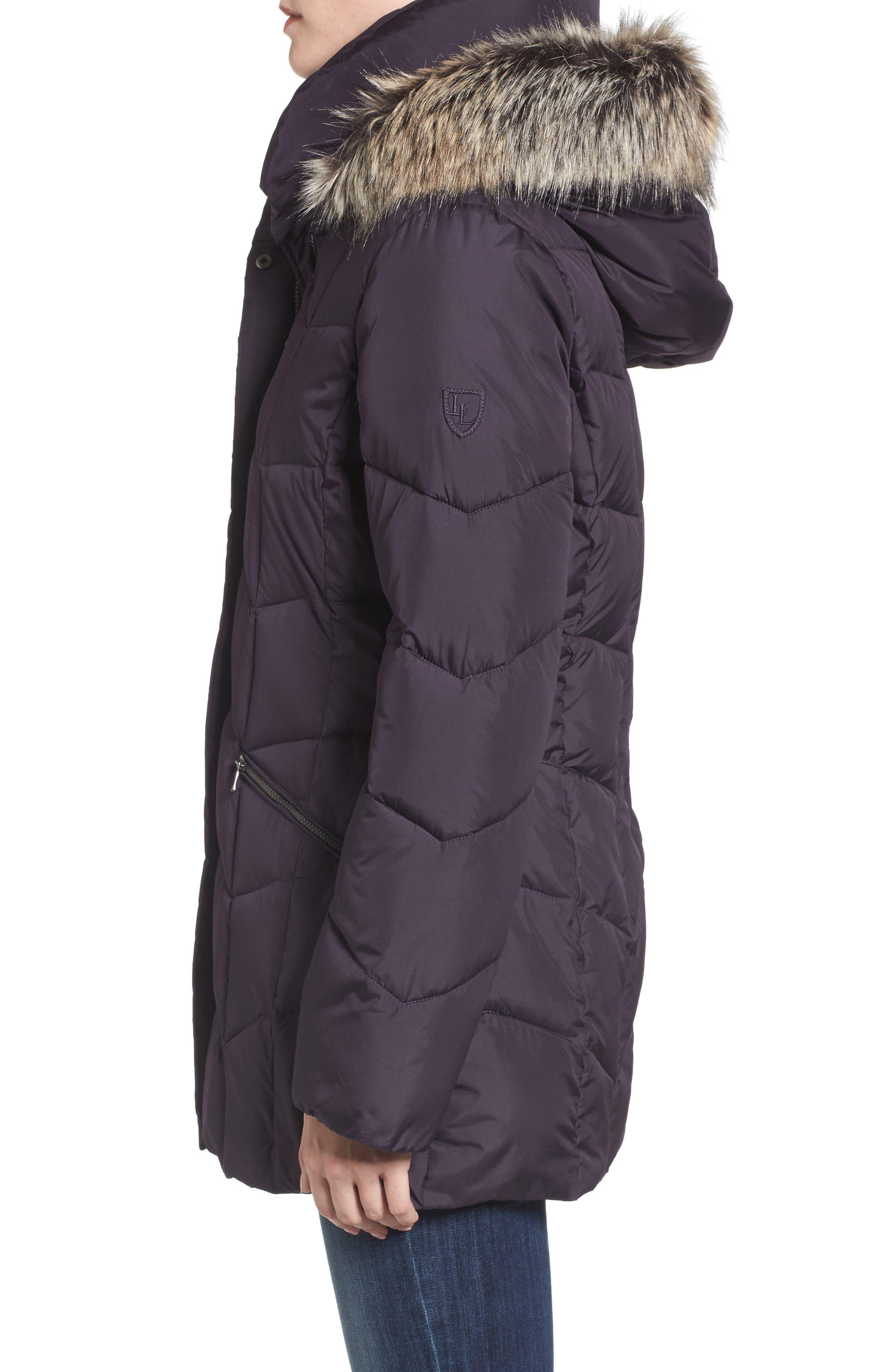 Alternate Image 3  - Larry Levine Quilted Coat with Faux Fur Trim