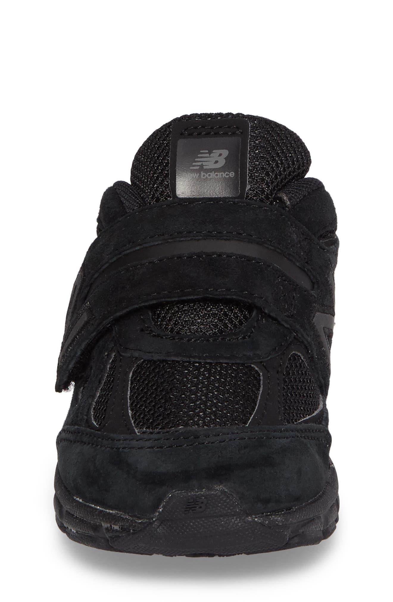 '990v4' Sneaker,                             Alternate thumbnail 4, color,                             Black/ Black