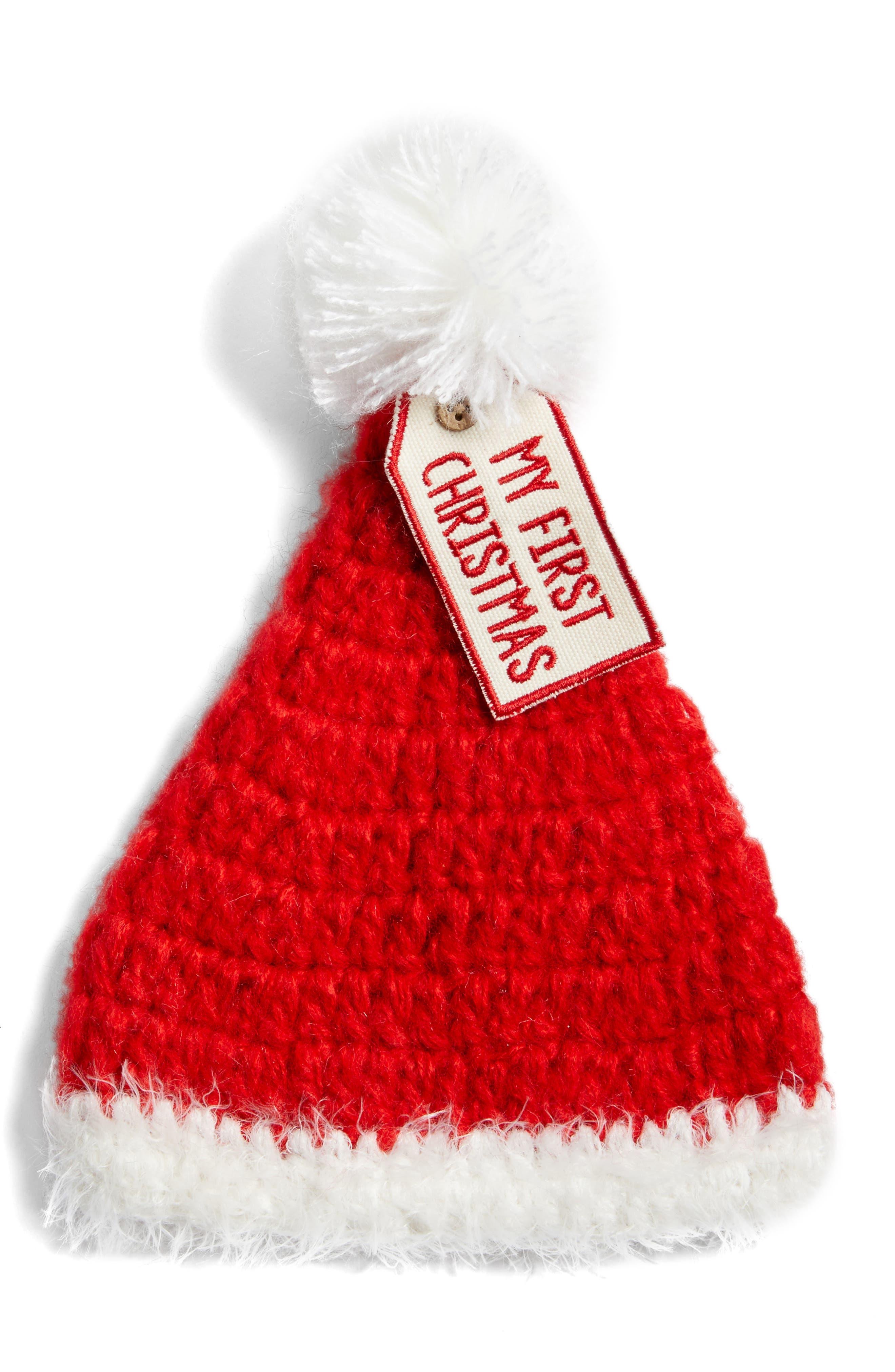 Mud Pie Crochet My First Christmas Santa Hat