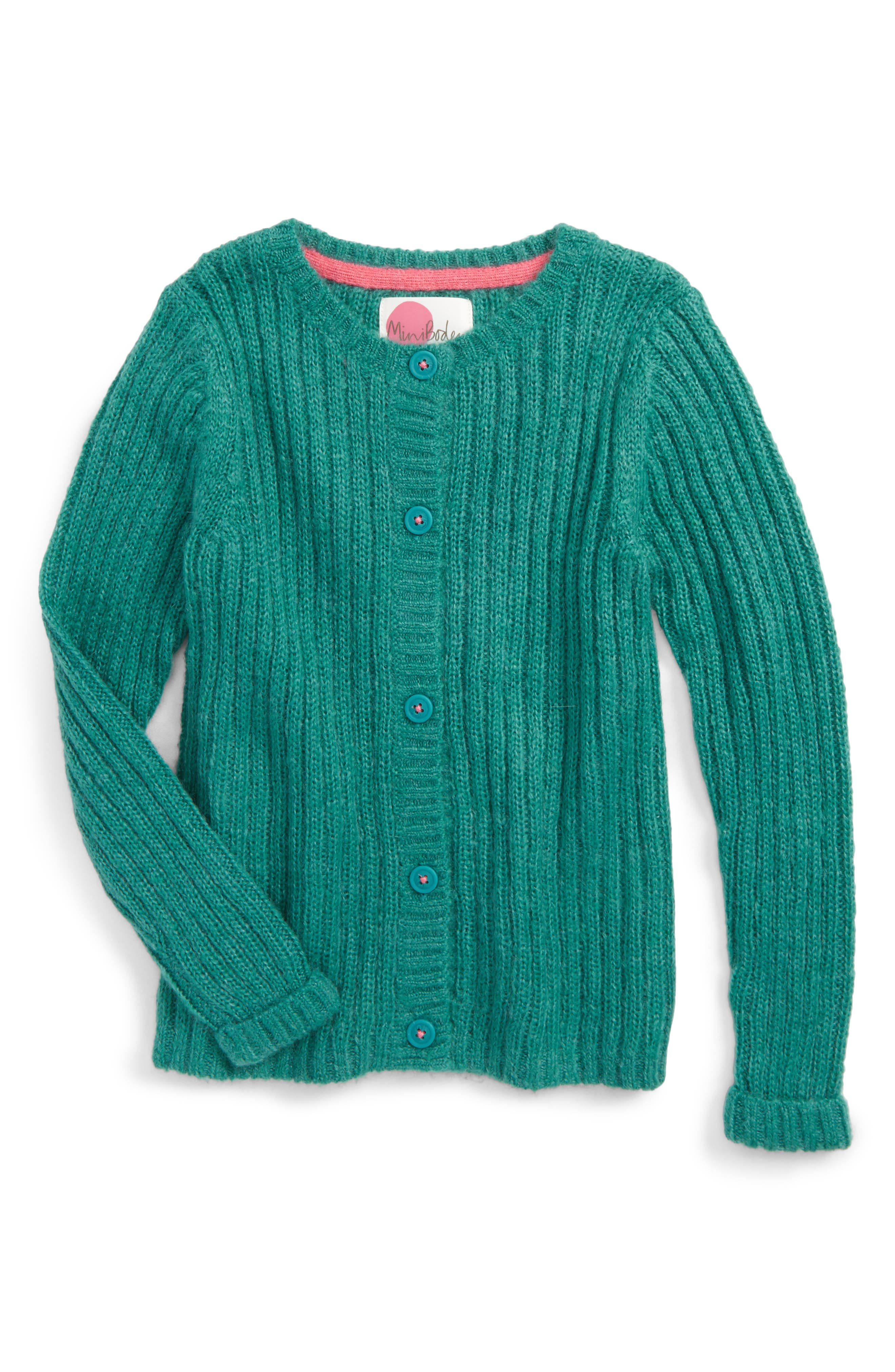 Main Image - Mini Boden Cosy Everyday Cardigan (Toddler Girls, Little Girls & Big Girls)