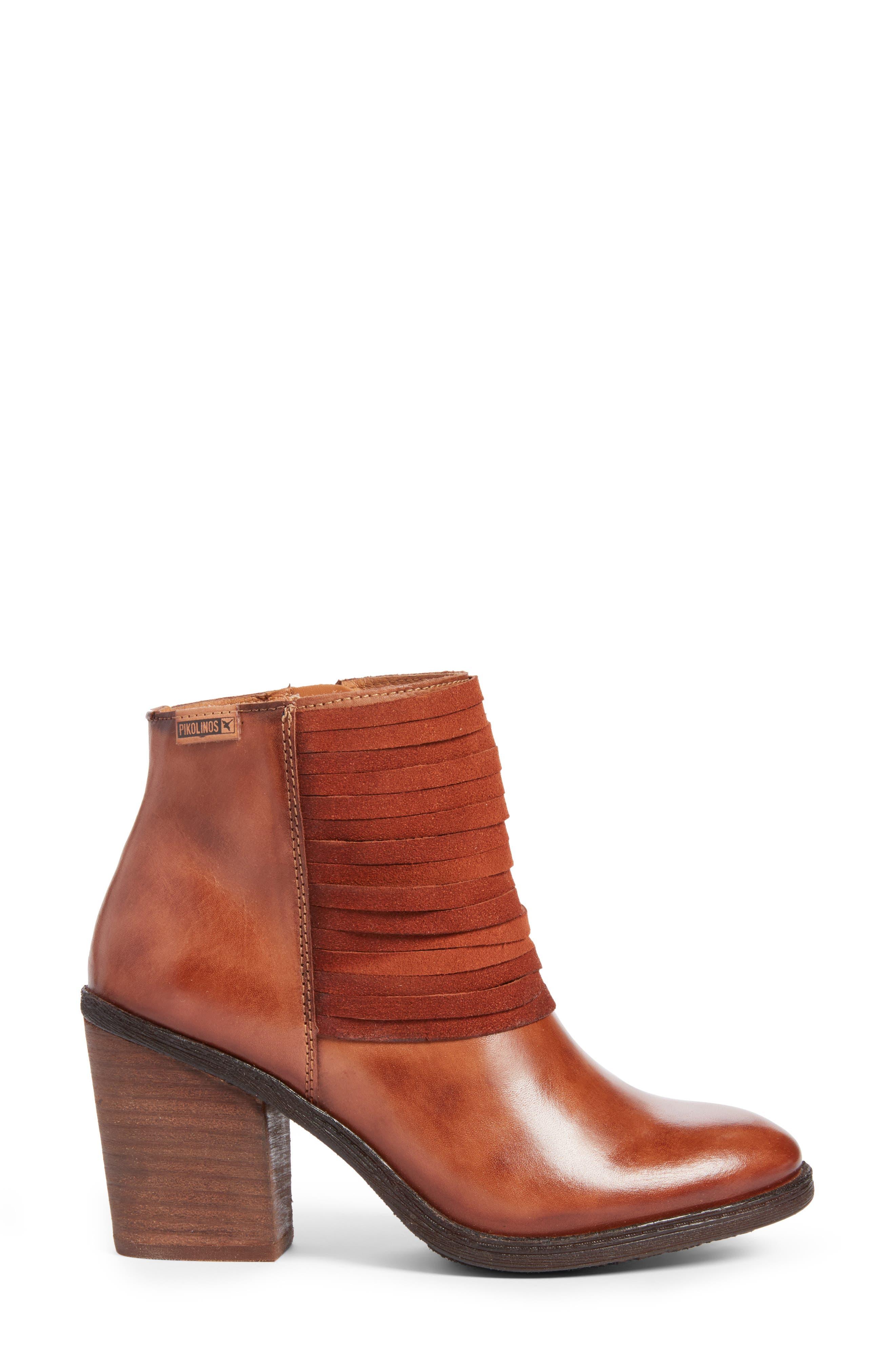 Alicante Bootie,                             Alternate thumbnail 3, color,                             Cuero Leather