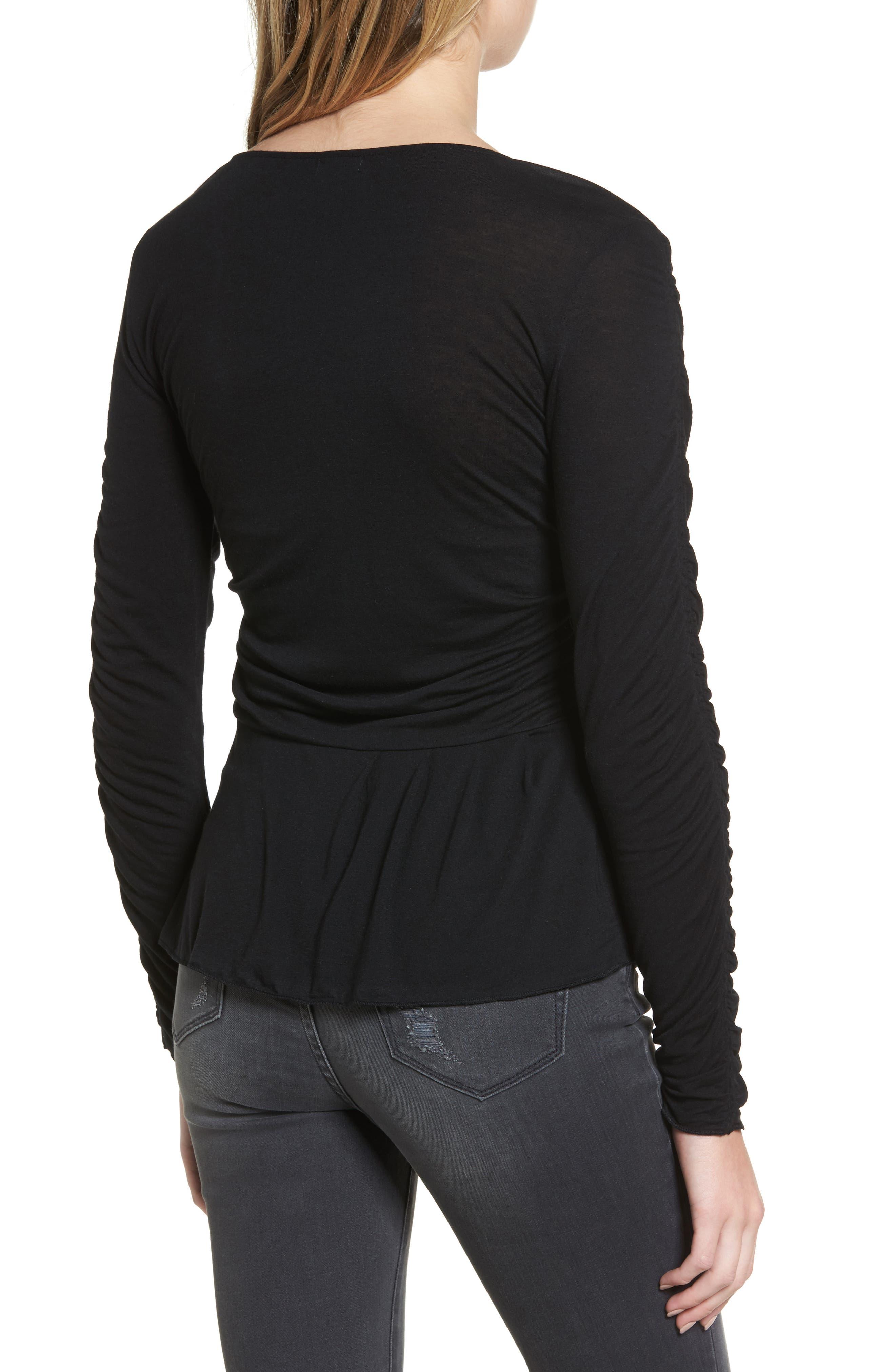 Alternate Image 2  - Hinge Draped Jersey Top