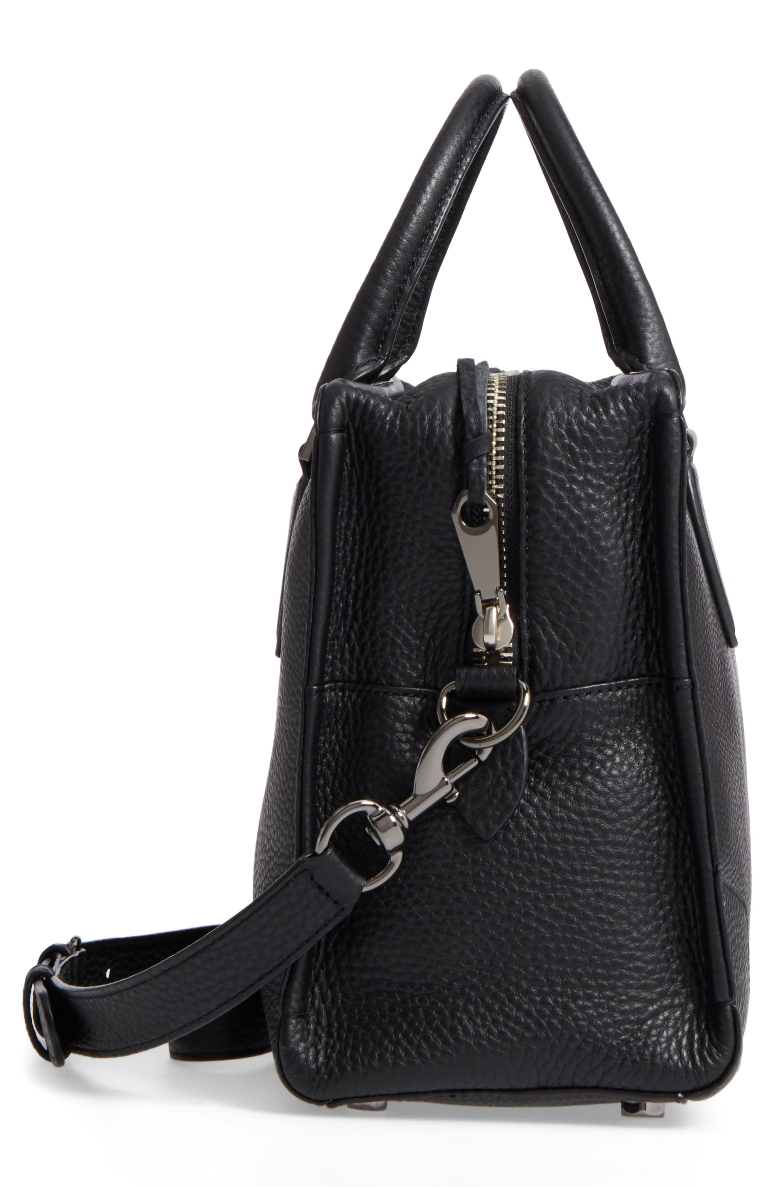 Moonwalking Satchel,                             Alternate thumbnail 3, color,                             Black