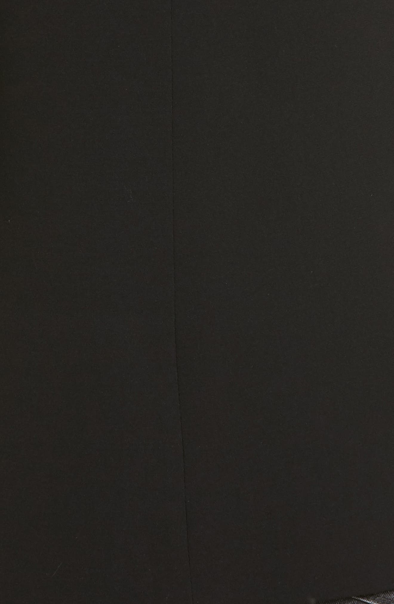 Oversize Double Breasted Blazer,                             Alternate thumbnail 8, color,                             Black