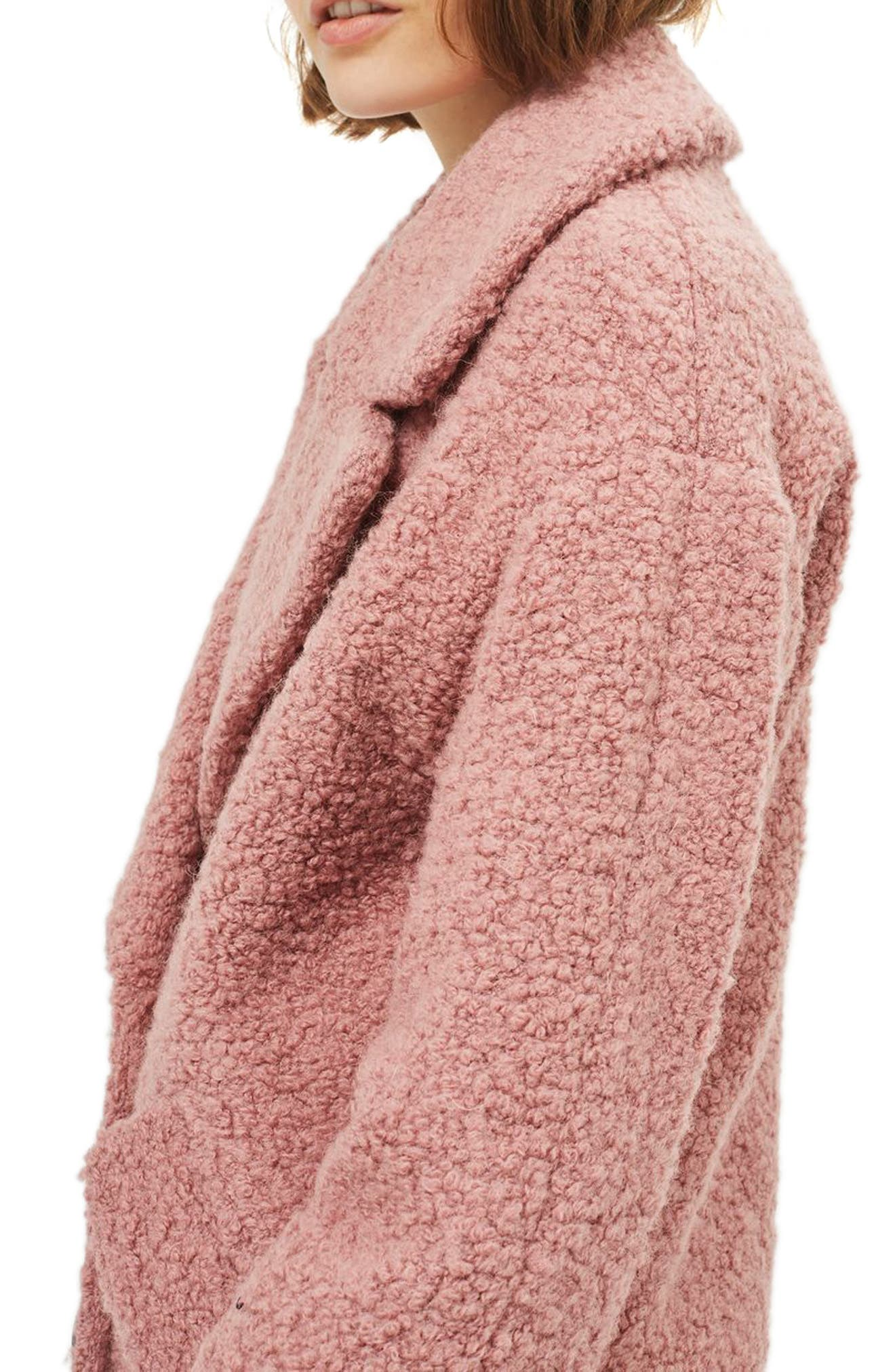 Alternate Image 4  - Topshop Alicia Bouclé Slouch Coat