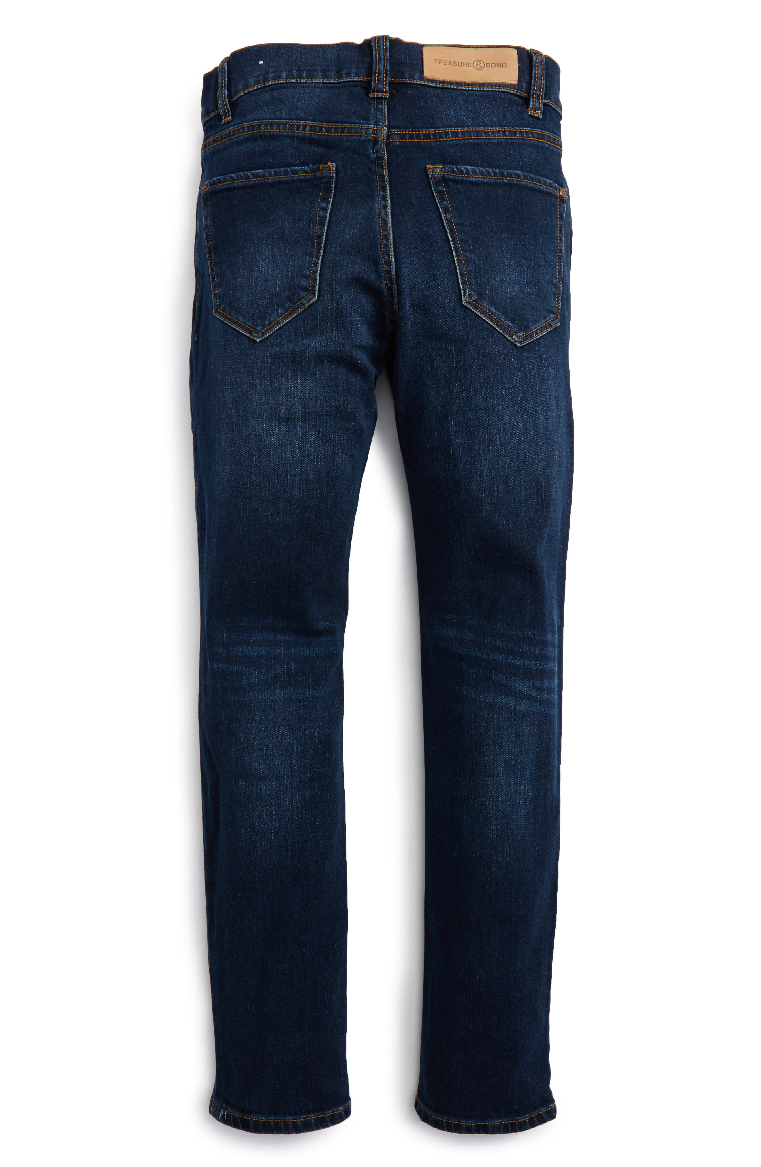 Distressed Skinny Jeans,                             Alternate thumbnail 2, color,                             Effy Wash