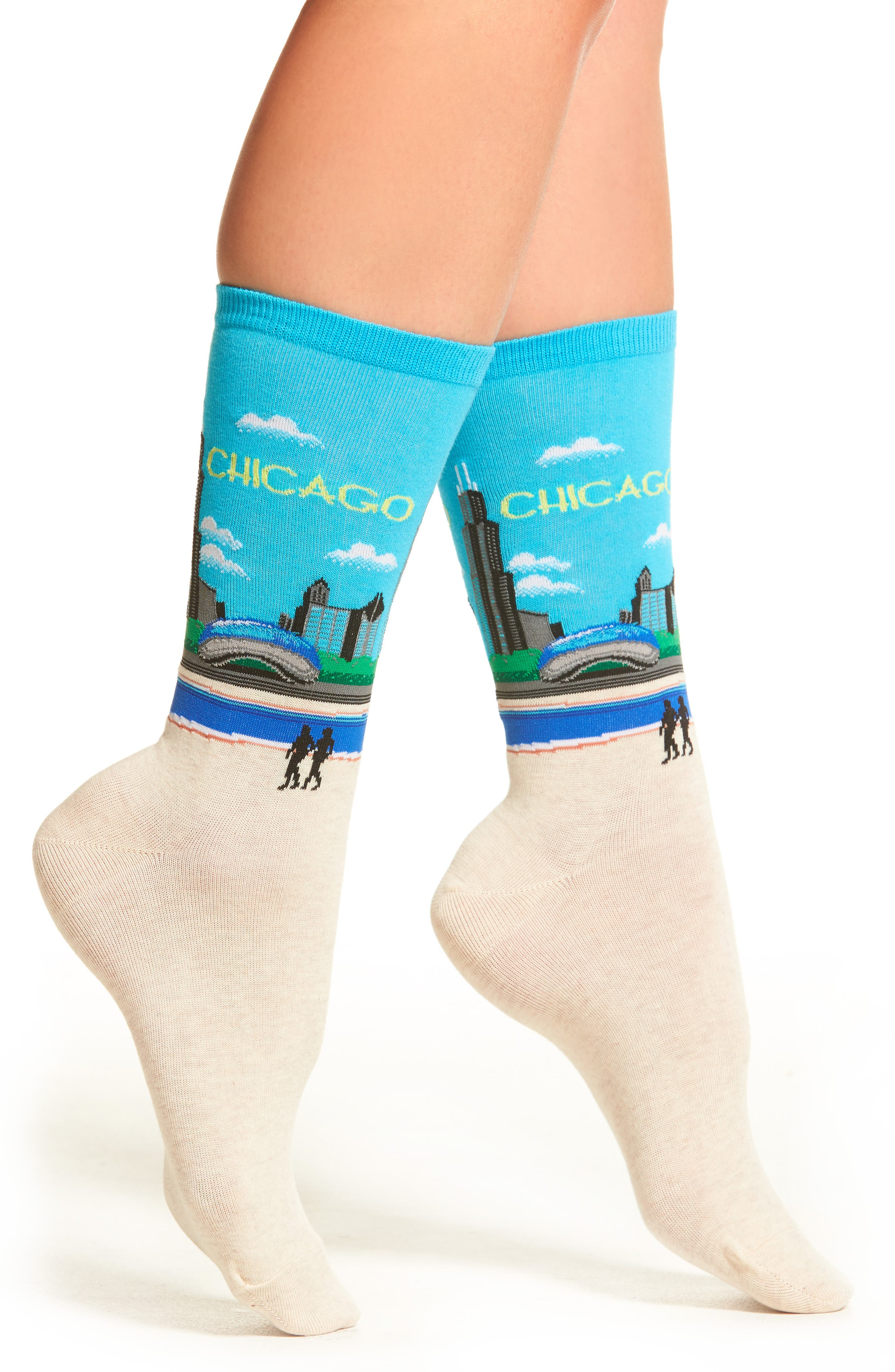 Alternate Image 1 Selected - Hot Sox Chicago Crew Socks (3 for $15)