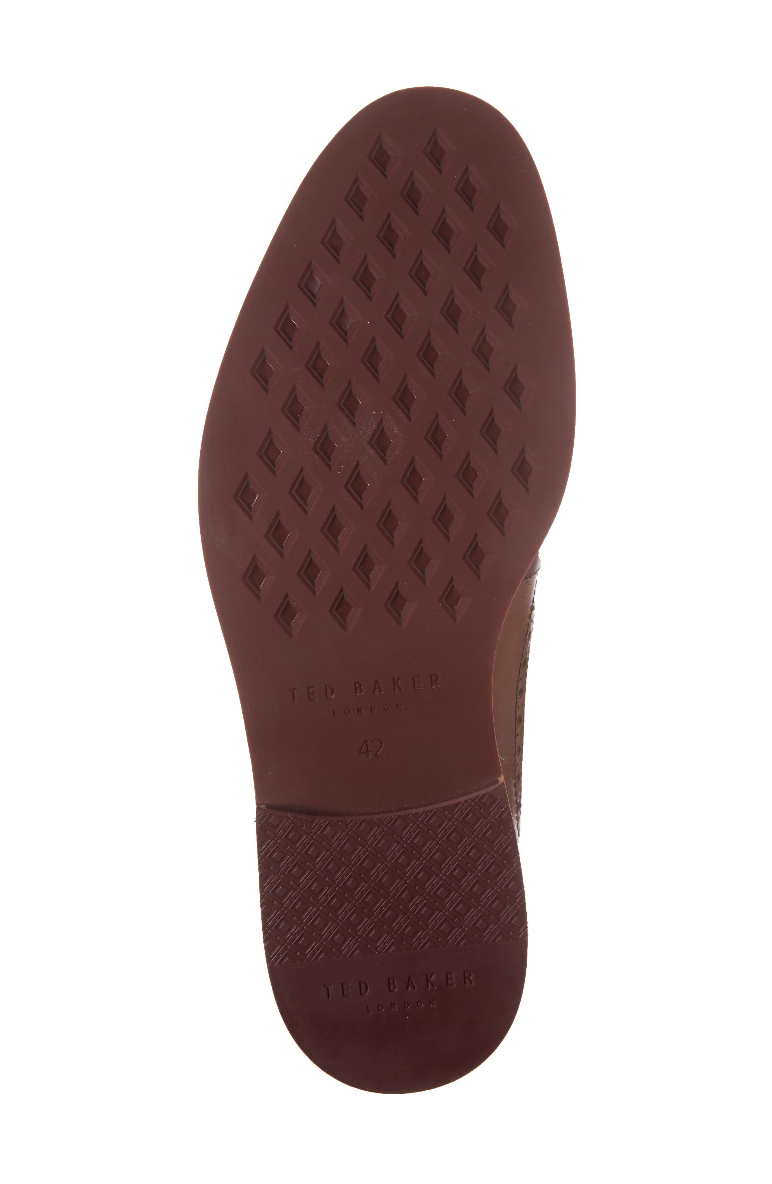 Deelani Longwing Derby,                             Alternate thumbnail 6, color,                             Tan Leather