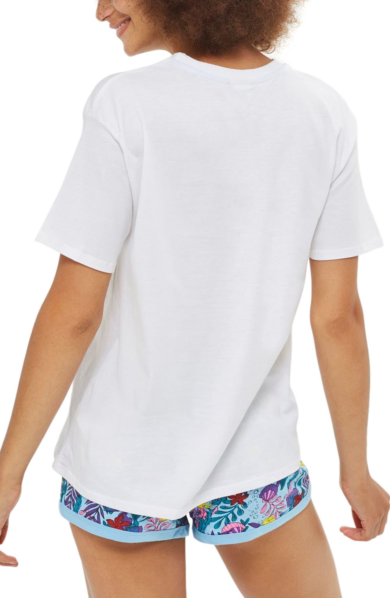 Shell Yeah Pajamas,                             Alternate thumbnail 2, color,                             White Multi