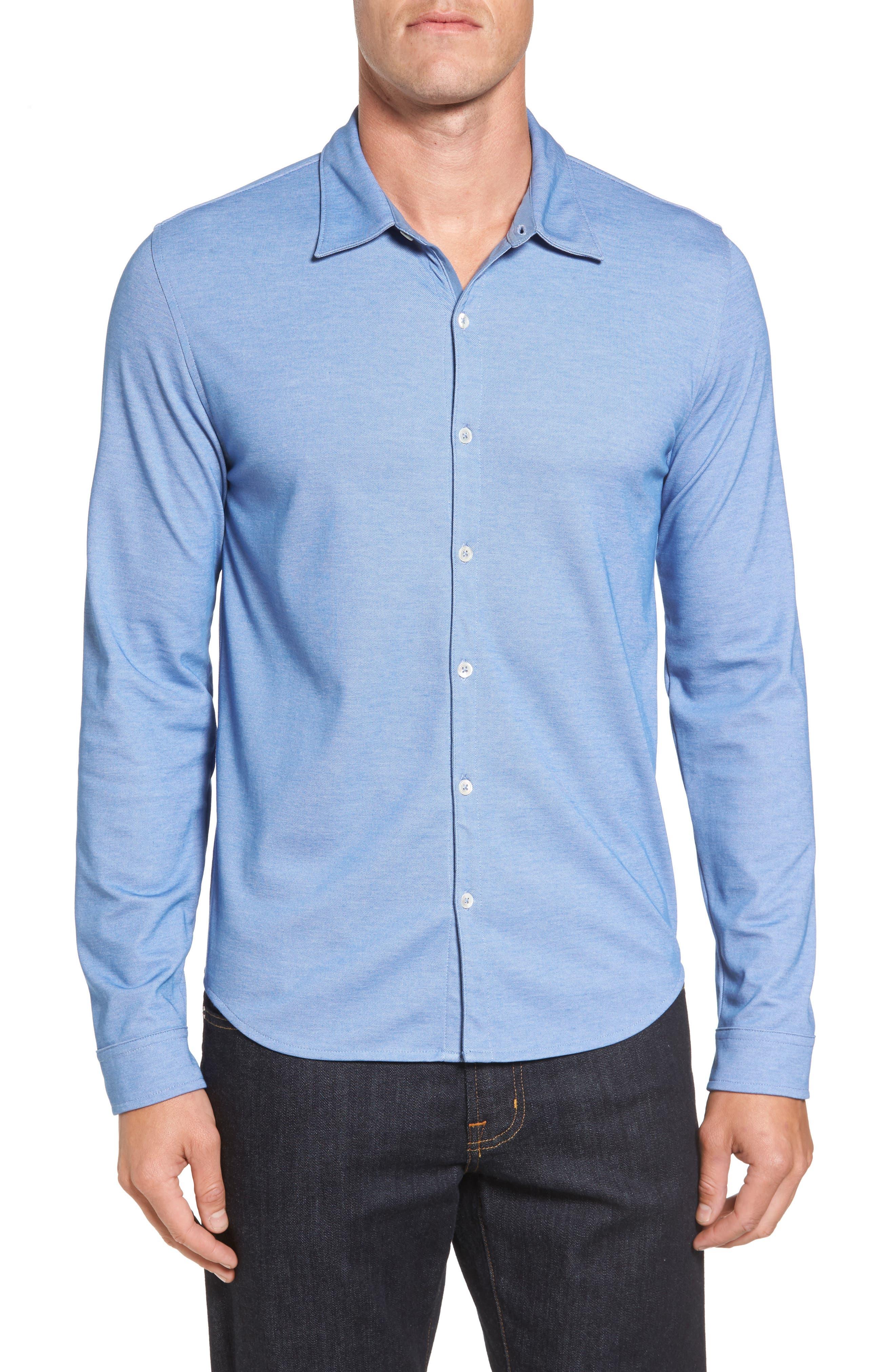 ZACHARY PRELL Glacier Knit Sport Shirt