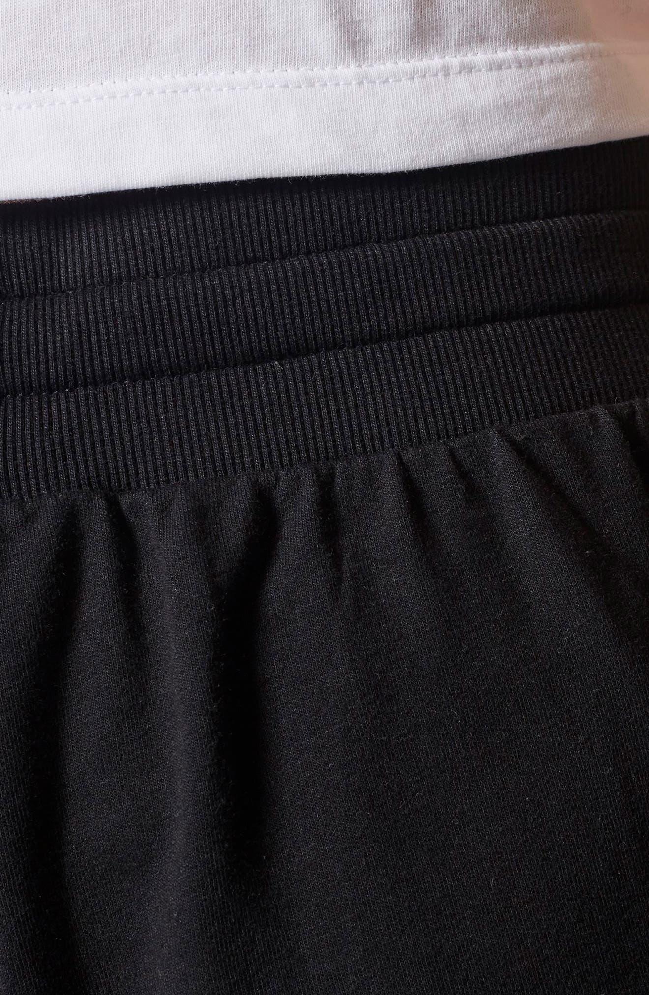 3-Stripes Tapered Pants,                             Alternate thumbnail 4, color,                             Black