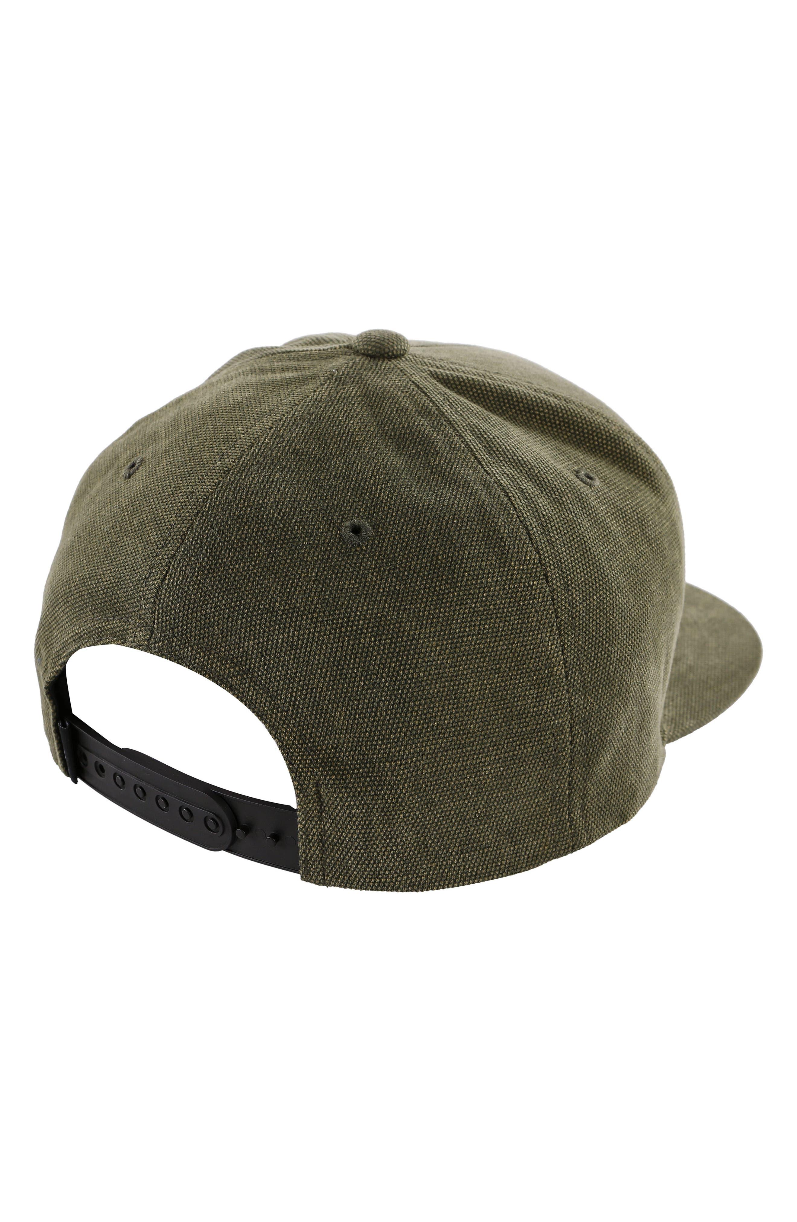 Lowtide Snapback Baseball Cap,                             Alternate thumbnail 2, color,                             Army
