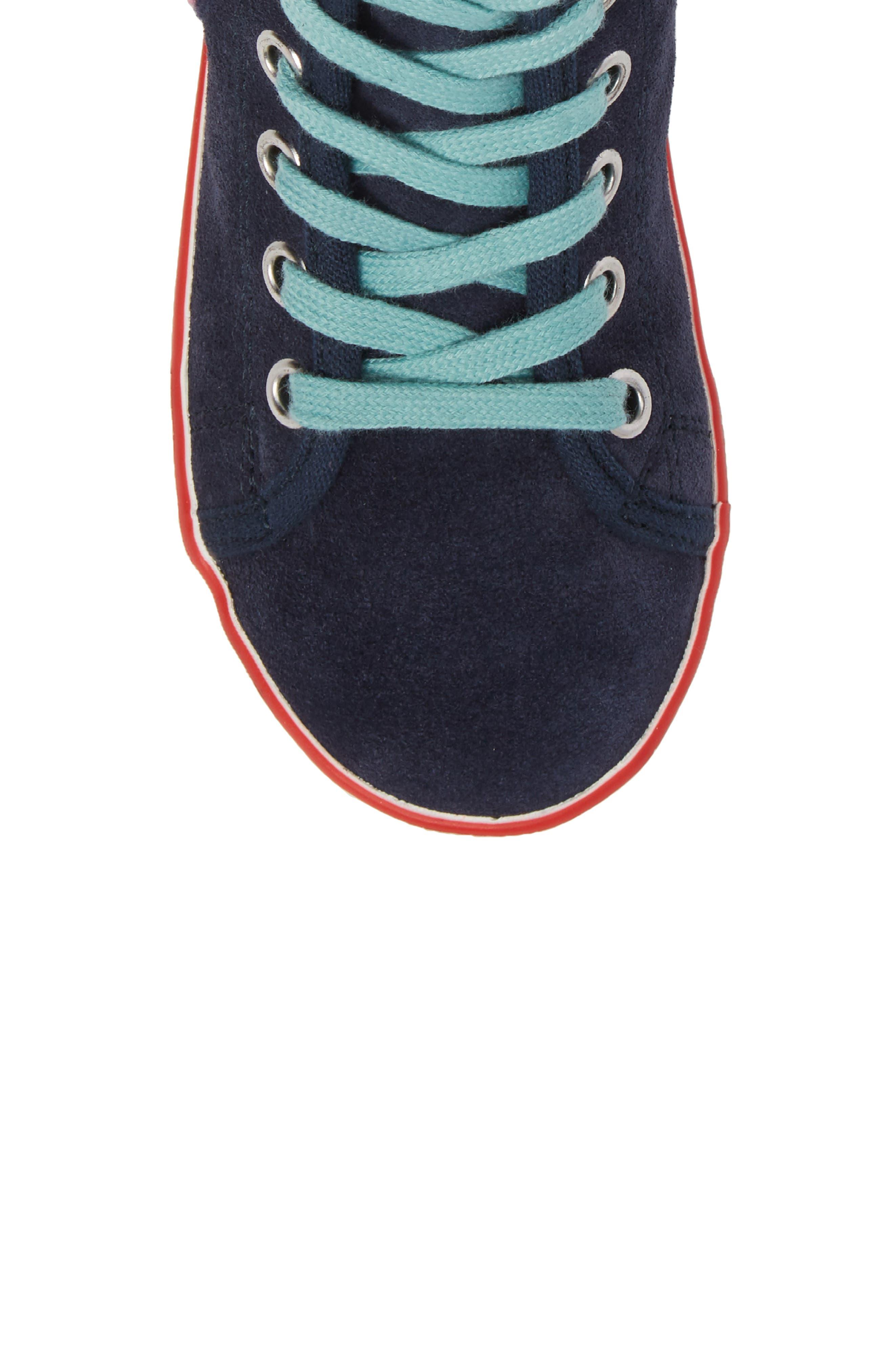 Alternate Image 5  - Mini Boden Embellished High Top Sneaker (Toddler, Little Kid & Big Kid)
