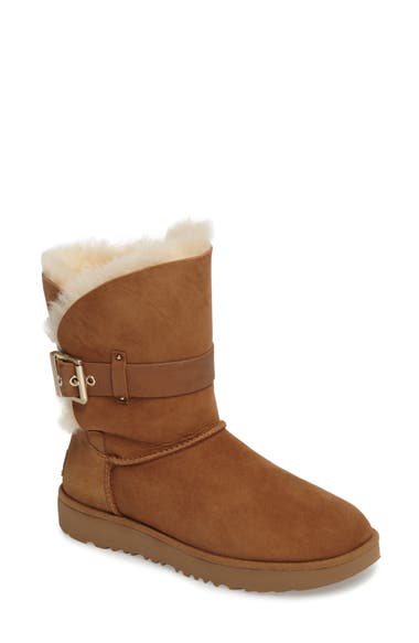 4e4c1c6a393 Women'S Jaylyn Sheepskin & Leather Booties, Chestnut Suede