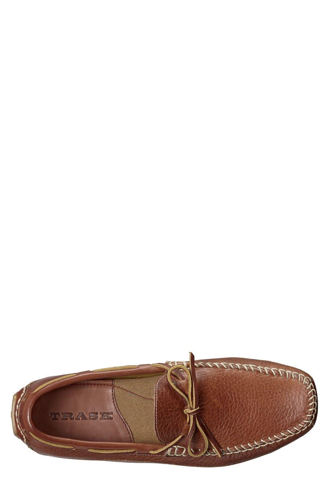 'Drake' Leather Driving Shoe,                             Alternate thumbnail 3, color,                             Saddle Tan