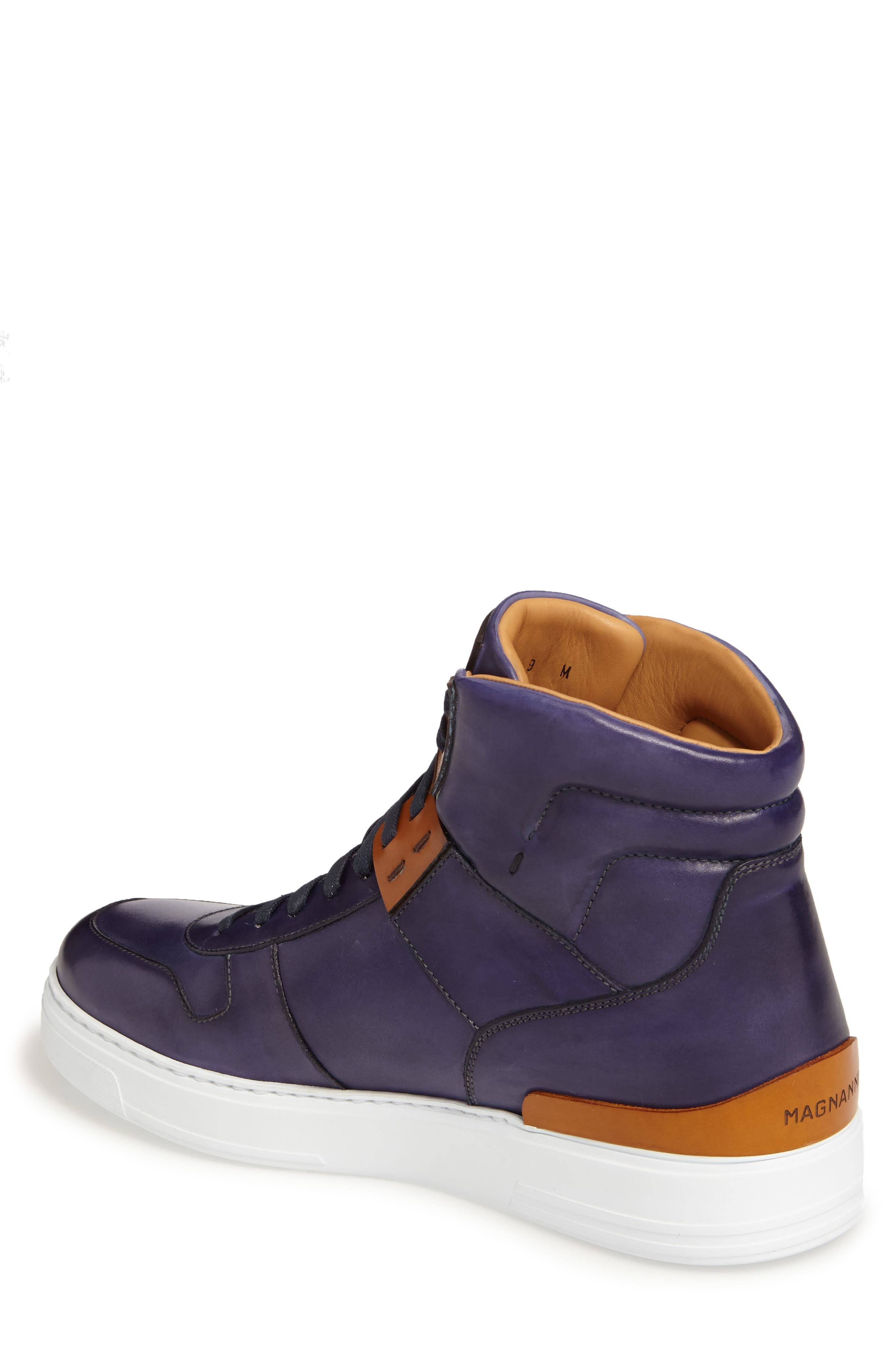 Endo Hi Sneaker,                             Alternate thumbnail 2, color,                             Navy Leather