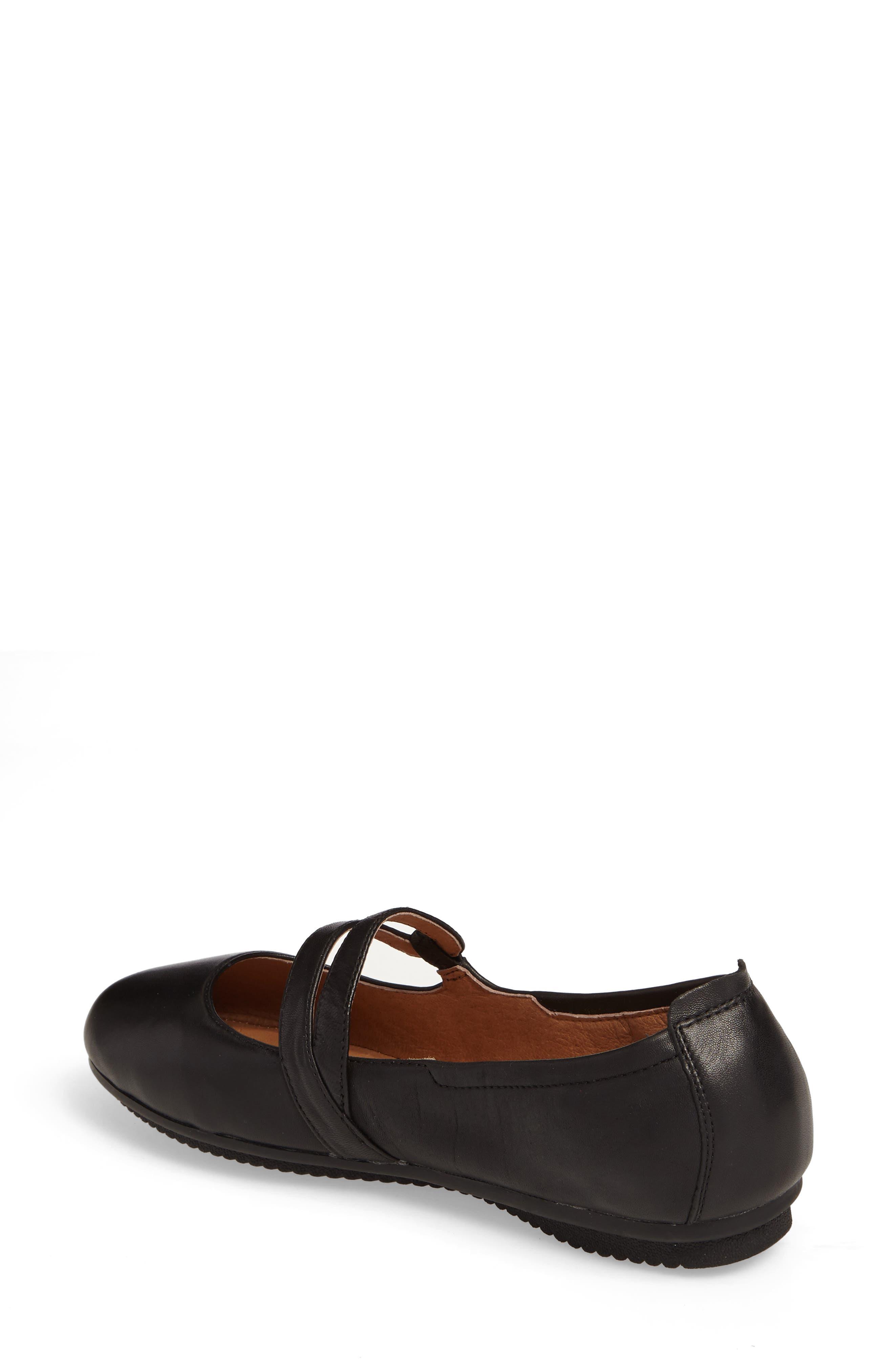 Pippa 63 Flat,                             Alternate thumbnail 2, color,                             Black Leather