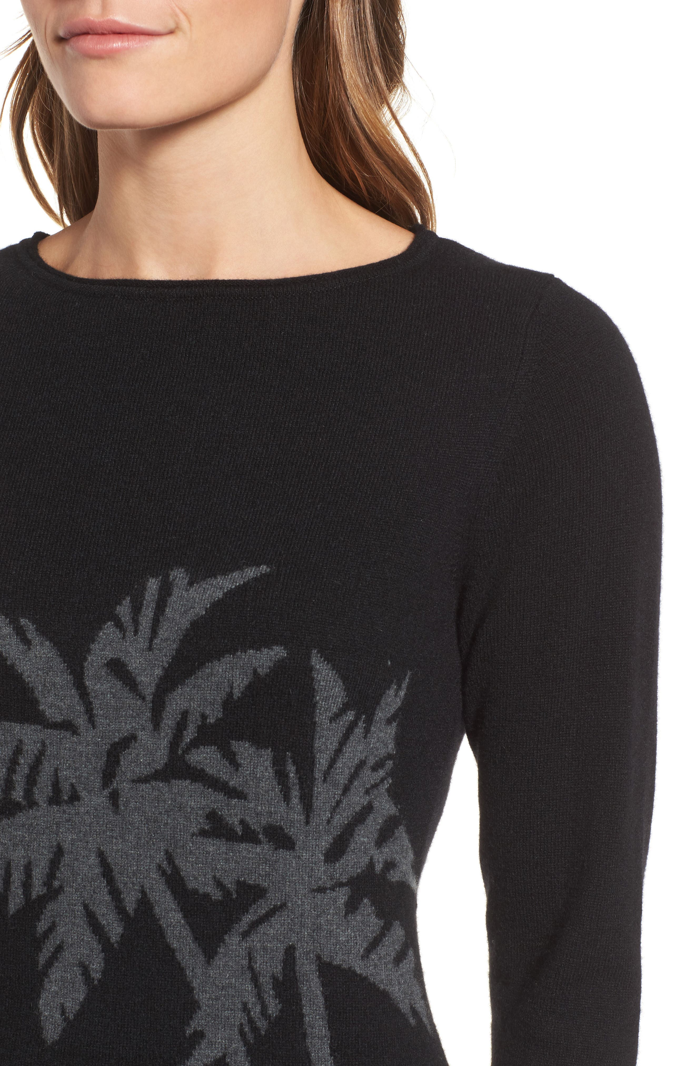 Alternate Image 4  - Tommy Bahama Island Palm Intarsia Cashmere Pullover
