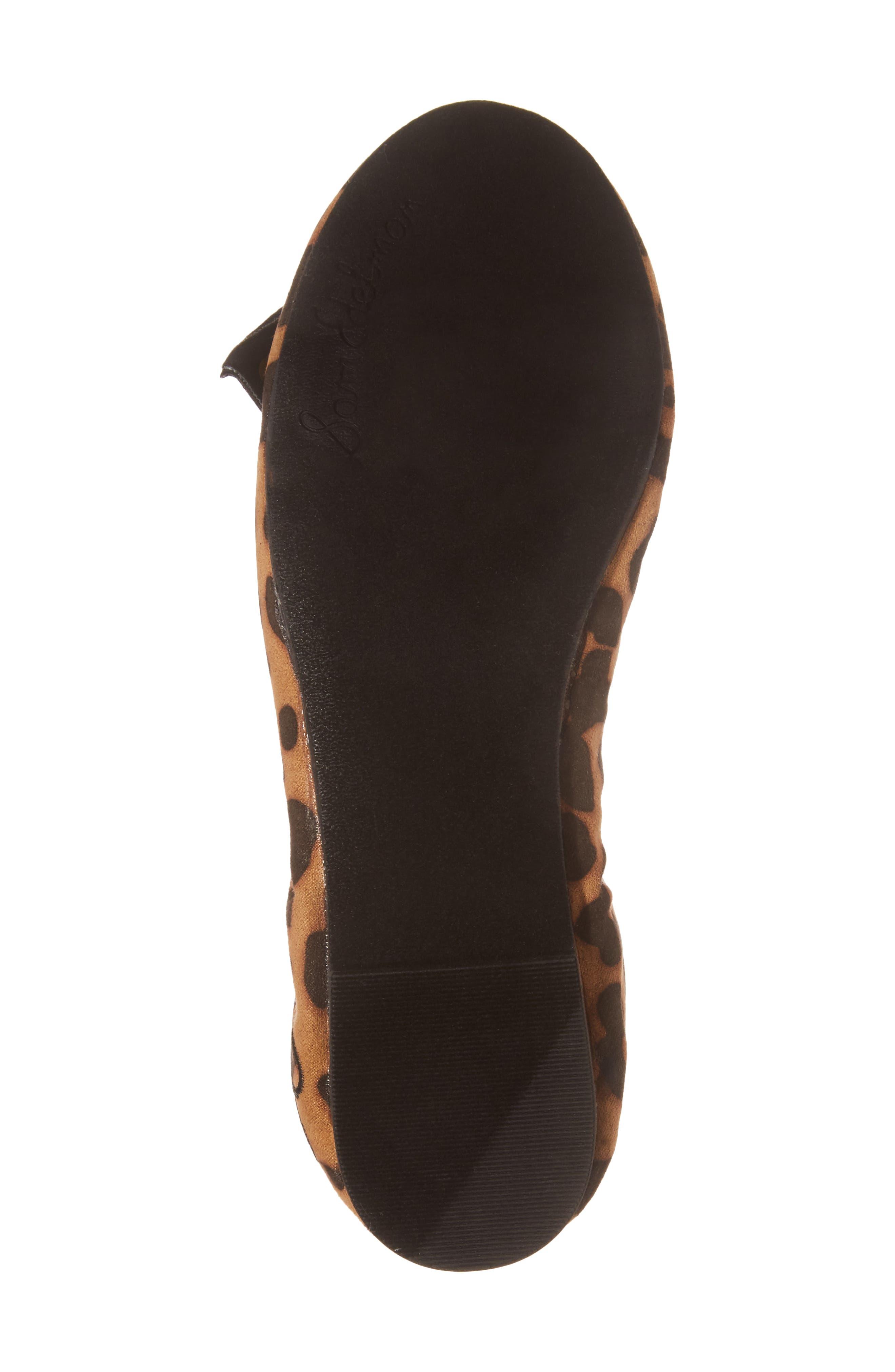 'Felicia' Ballet Flat,                             Alternate thumbnail 6, color,                             Black Cheetah