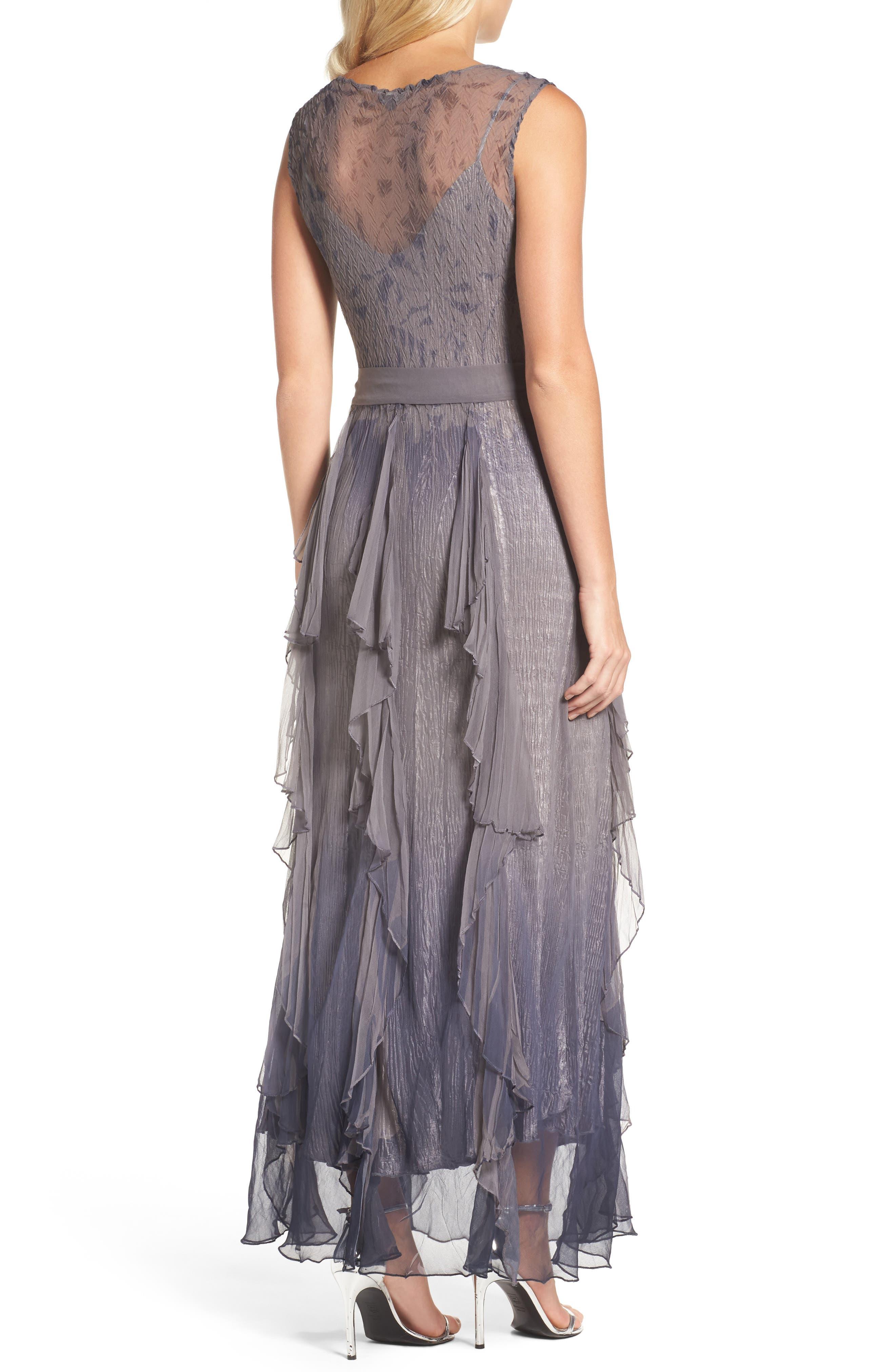 Alternate Image 2  - Komarov Print Sash Maxi Dress
