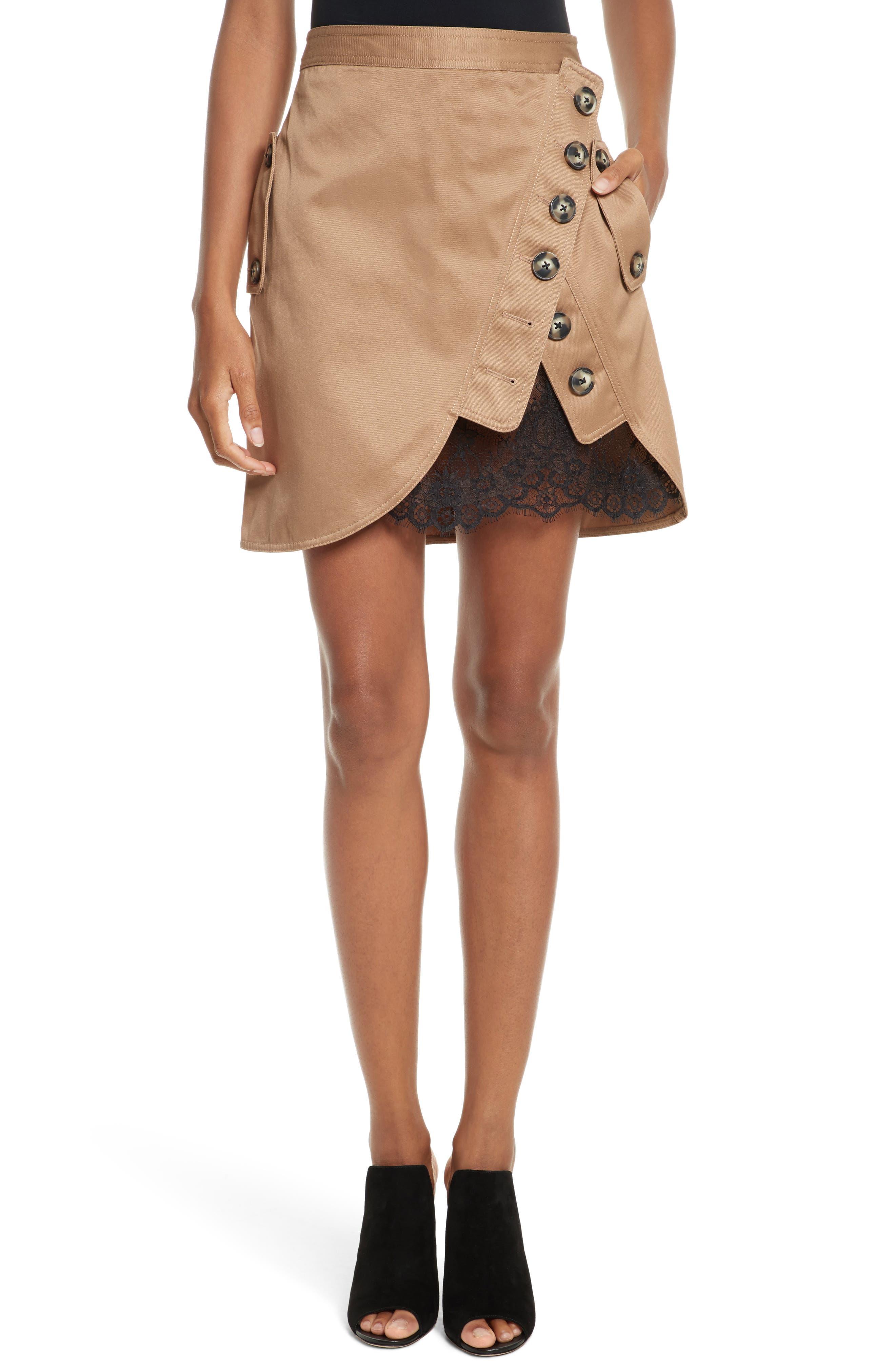 SELF-PORTRAIT Utility Miniskirt