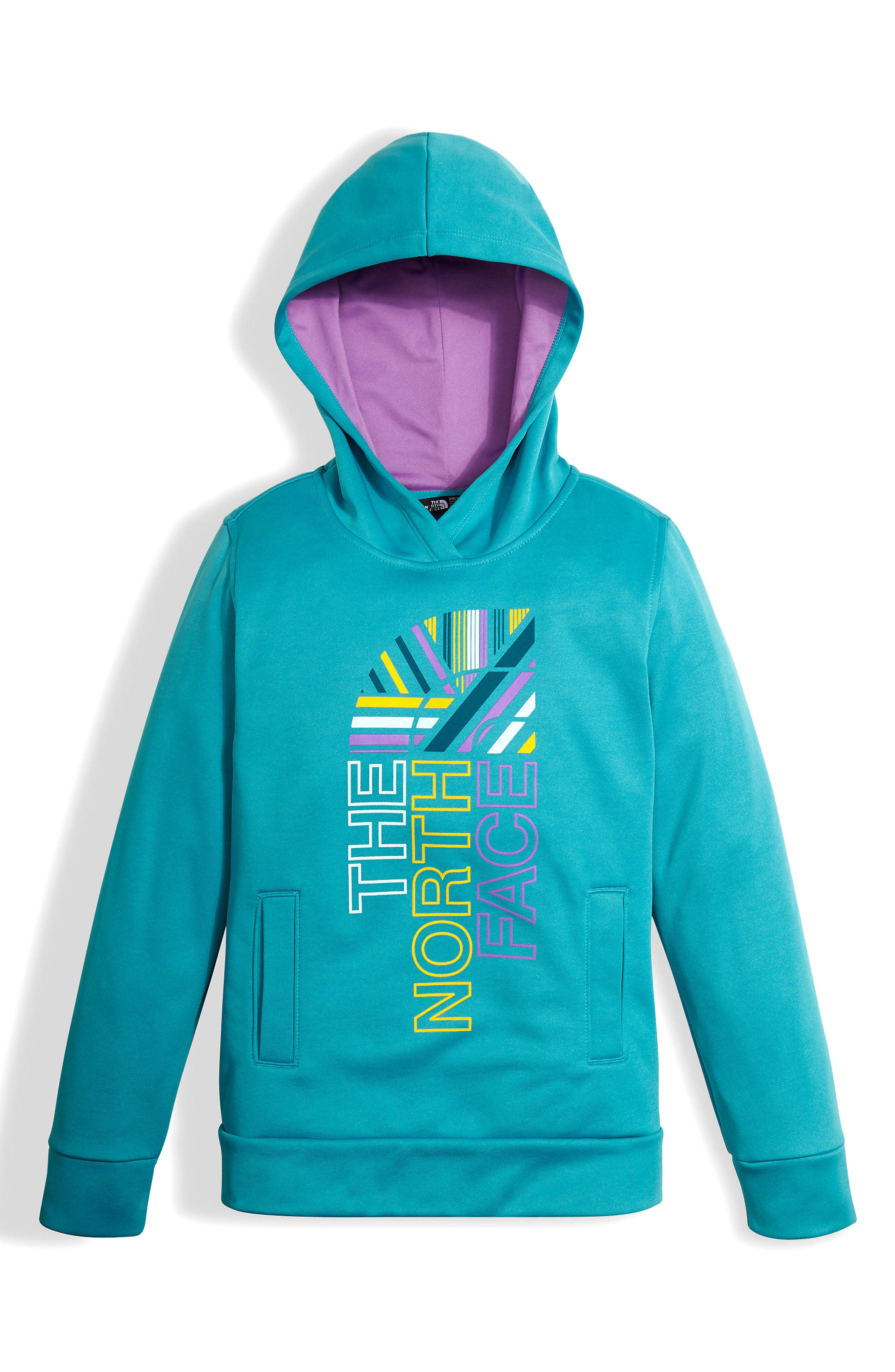 Alternate Image 1 Selected - The North Face Surgent Fleece Pullover Hoodie (Big Girls)