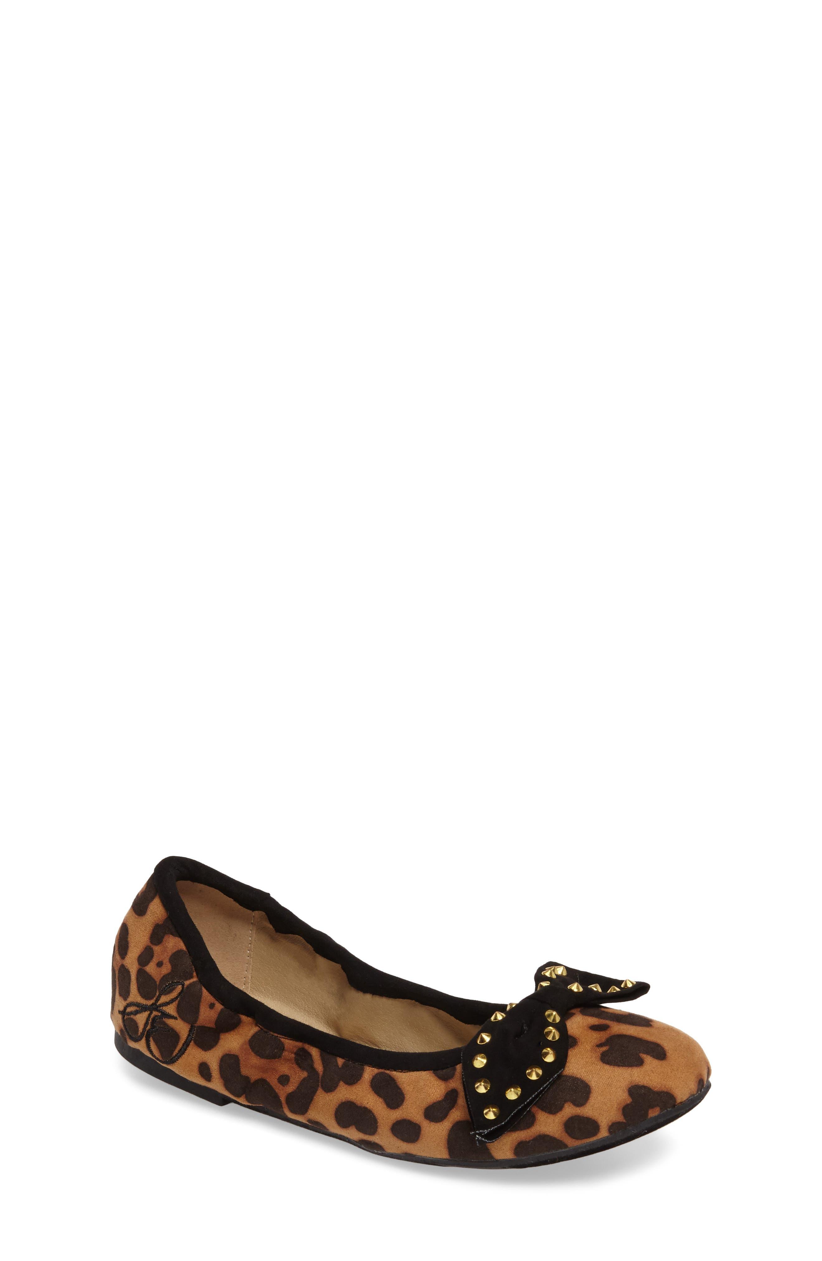'Felicia' Ballet Flat,                             Main thumbnail 1, color,                             Black Cheetah