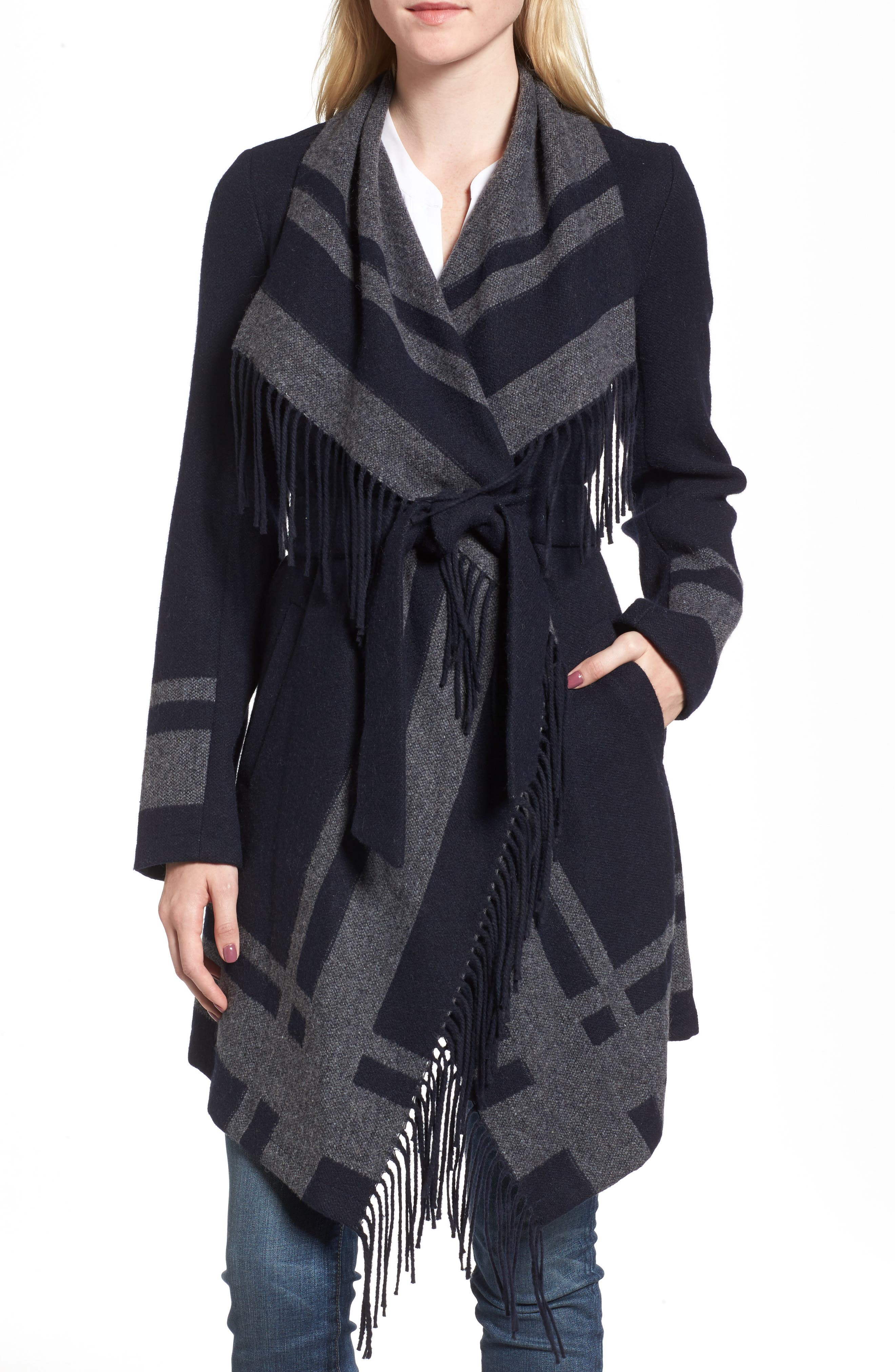 Alternate Image 1 Selected - Vince Camuto Wrap Coat