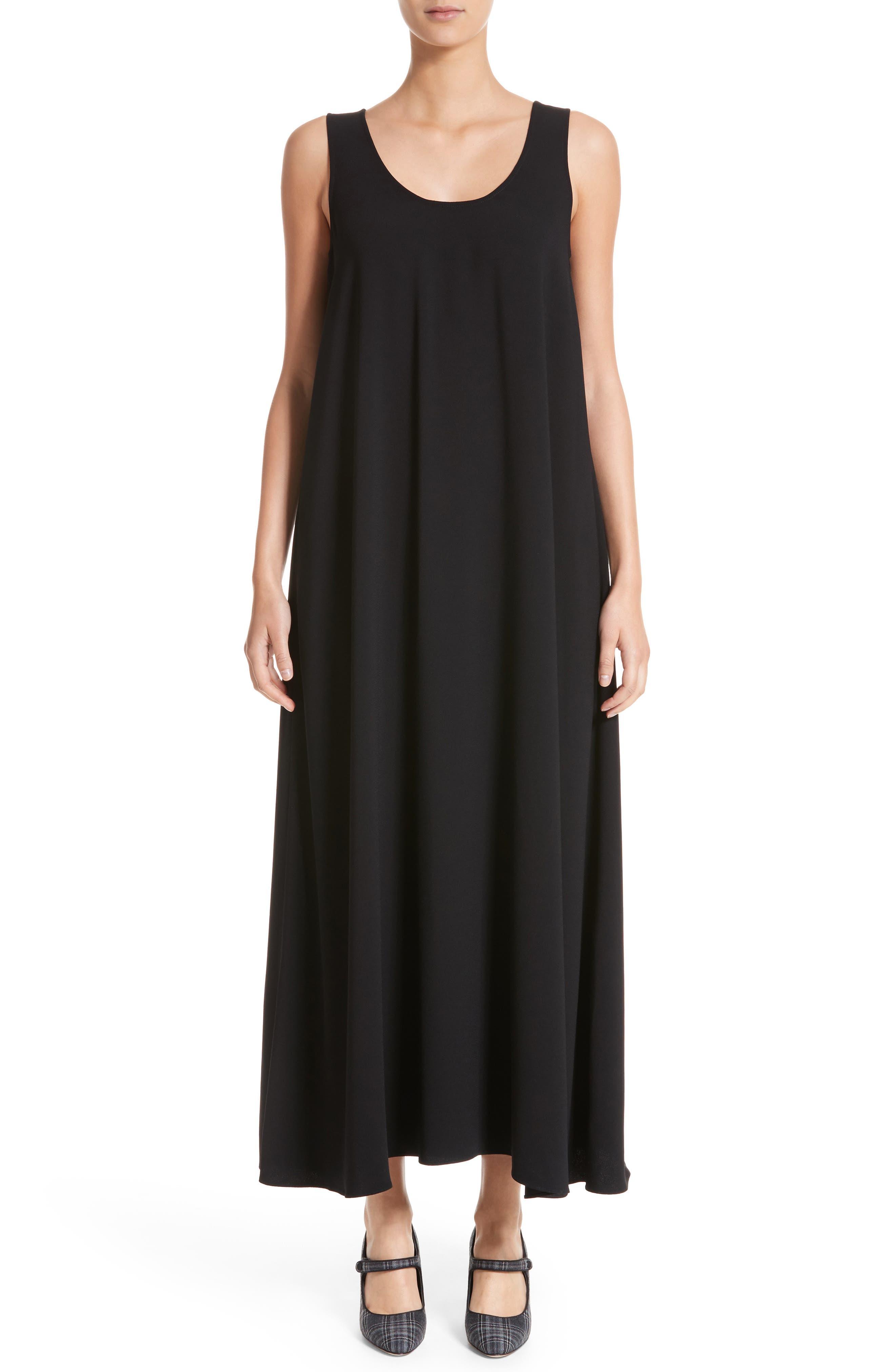 Sleeveless Maxi Dress,                         Main,                         color, Black