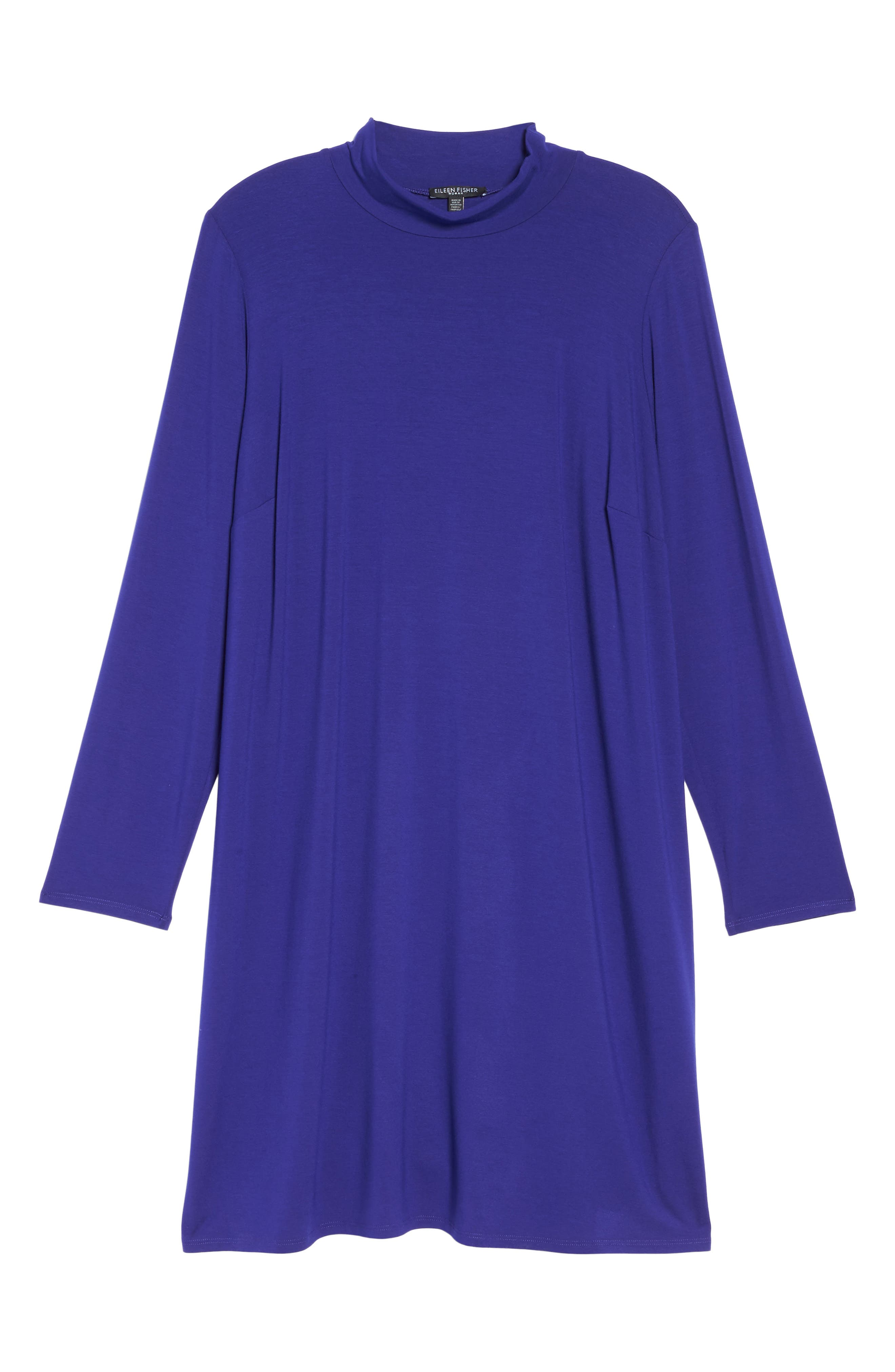 Alternate Image 6  - Eileen Fisher Mock Neck Shift Dress (Plus Size)