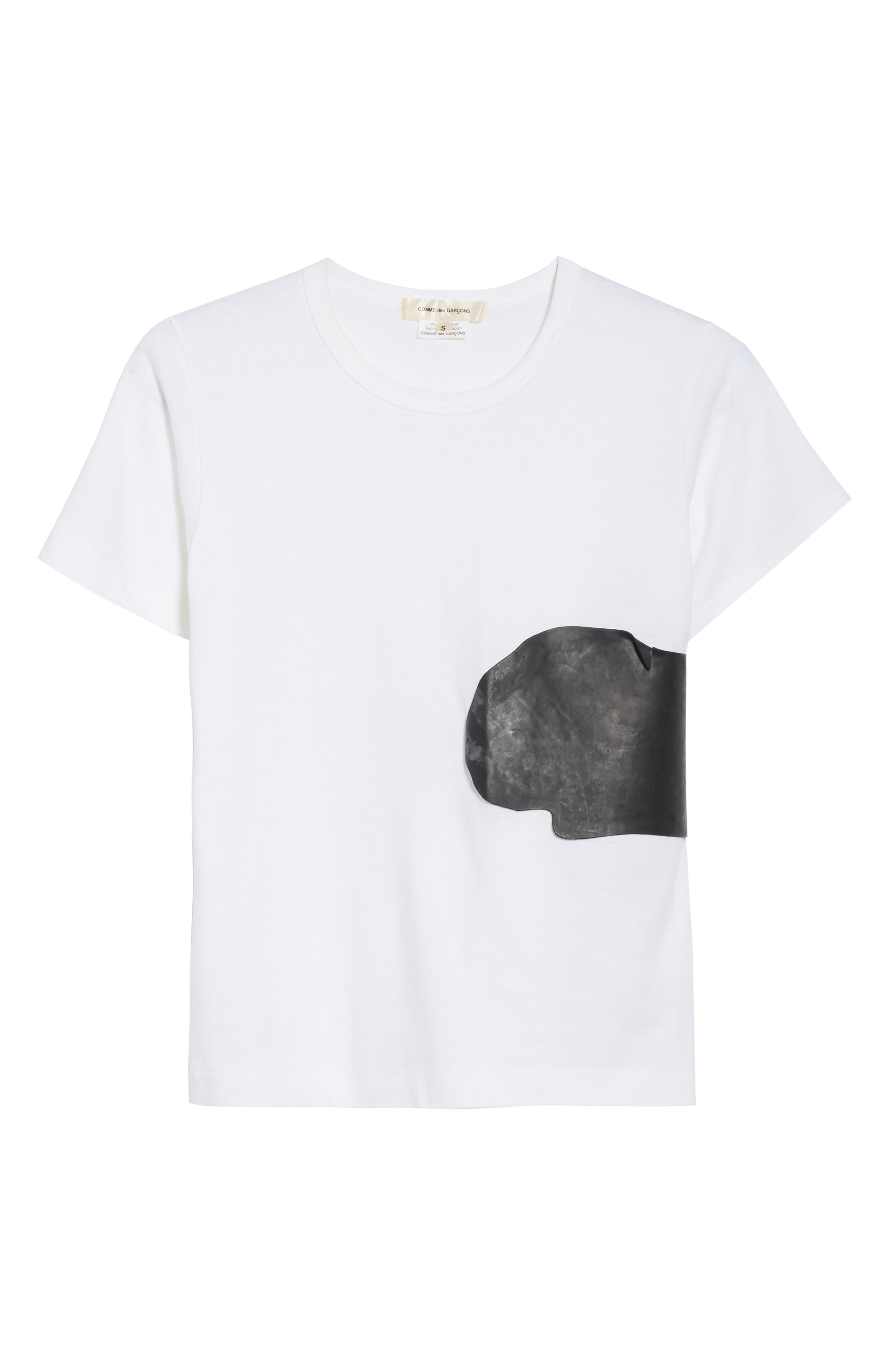 Rubber Graphic Tee,                             Alternate thumbnail 6, color,                             White/ Black