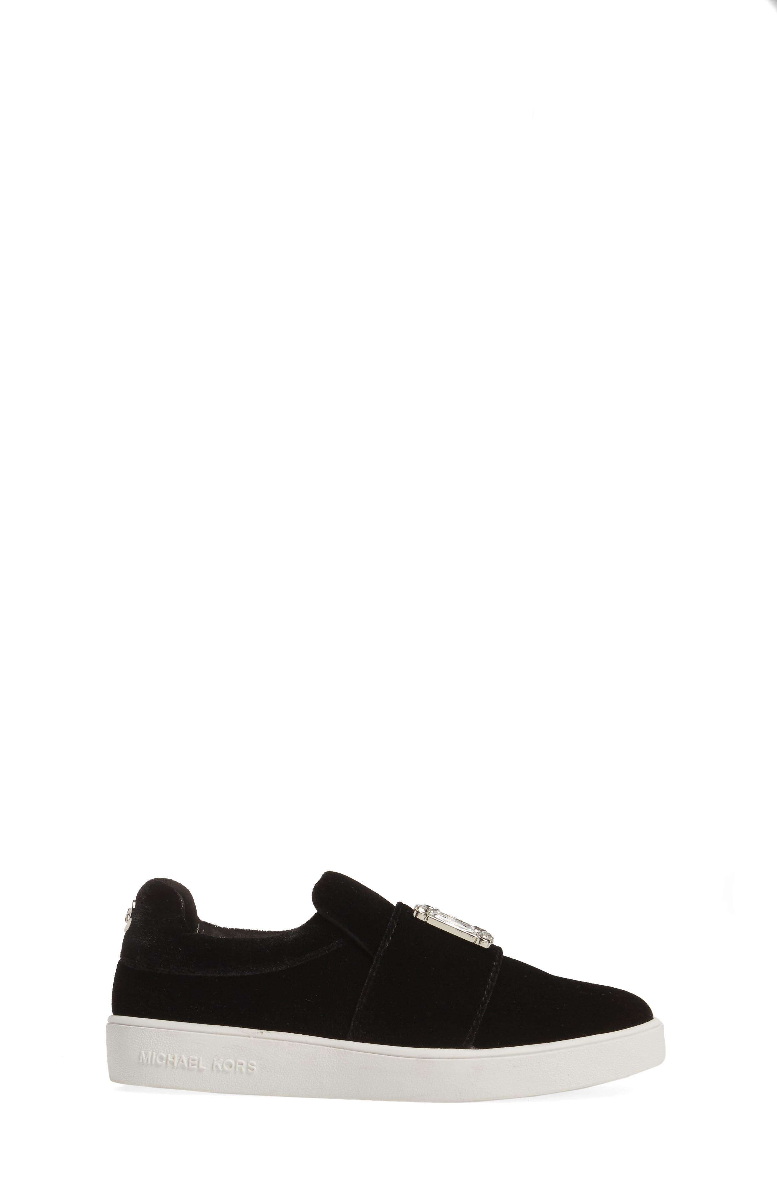 Ivy Dream Embellished Slip-On Sneaker,                             Alternate thumbnail 3, color,                             Black