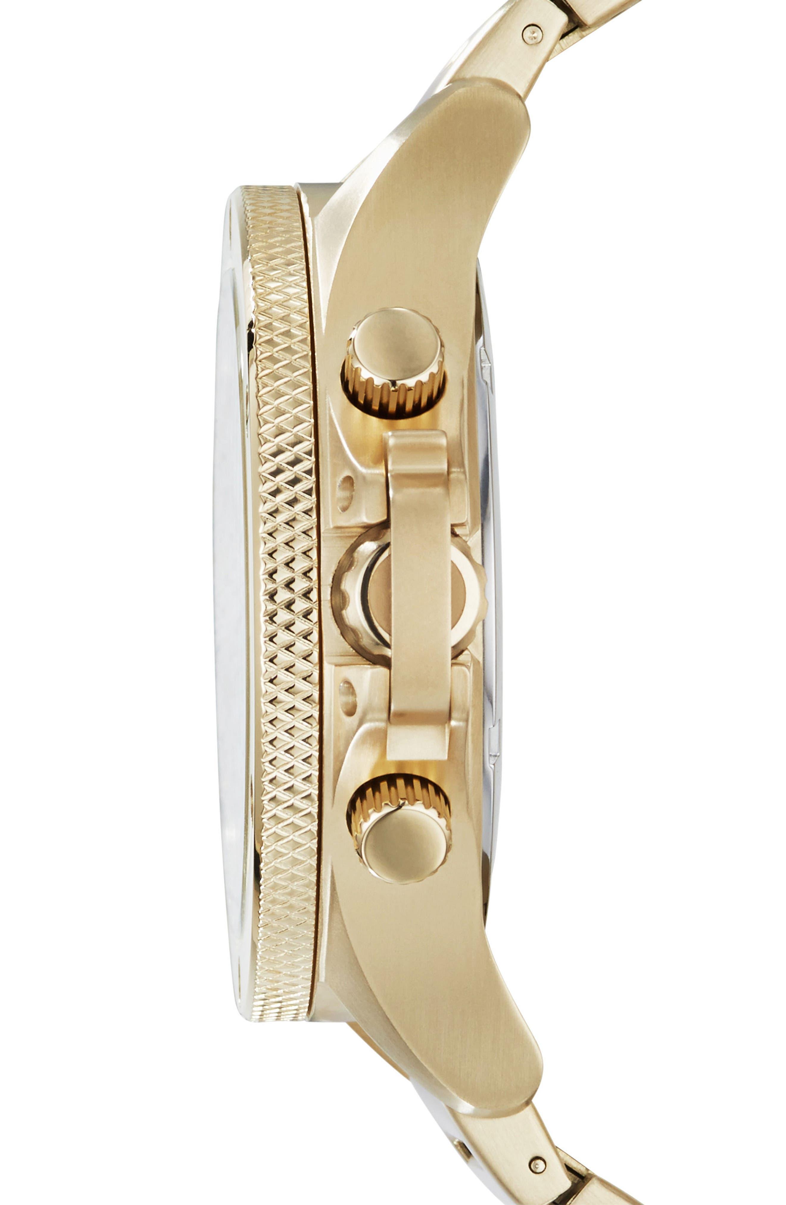 Alternate Image 3  - AX Armani Exchange Chronograph Bracelet Watch, 48mm