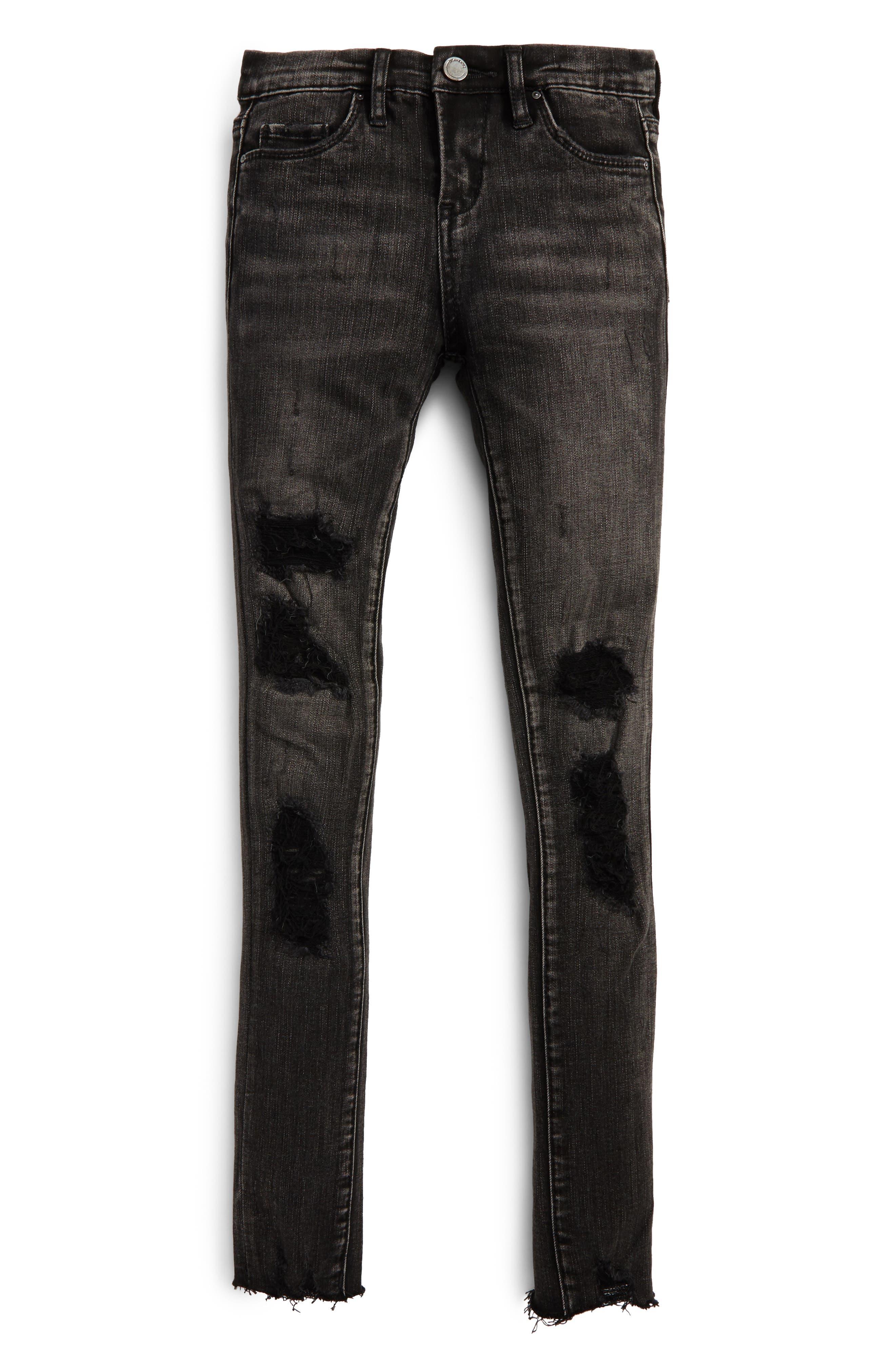 Main Image - BLANKNYC Destroyed Skinny Jeans (Big Girls)