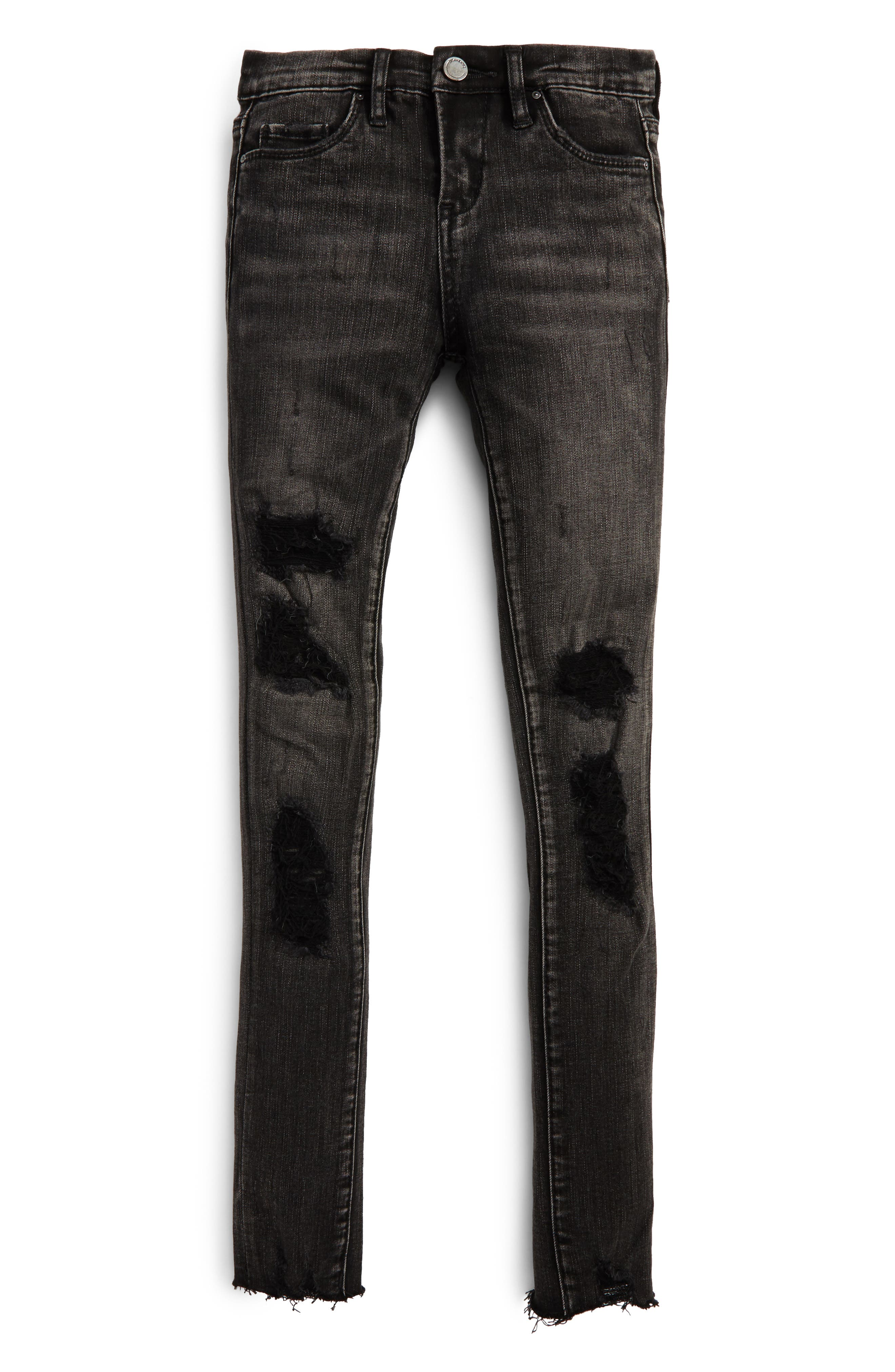 Destroyed Skinny Jeans,                         Main,                         color, Shadow Chaser