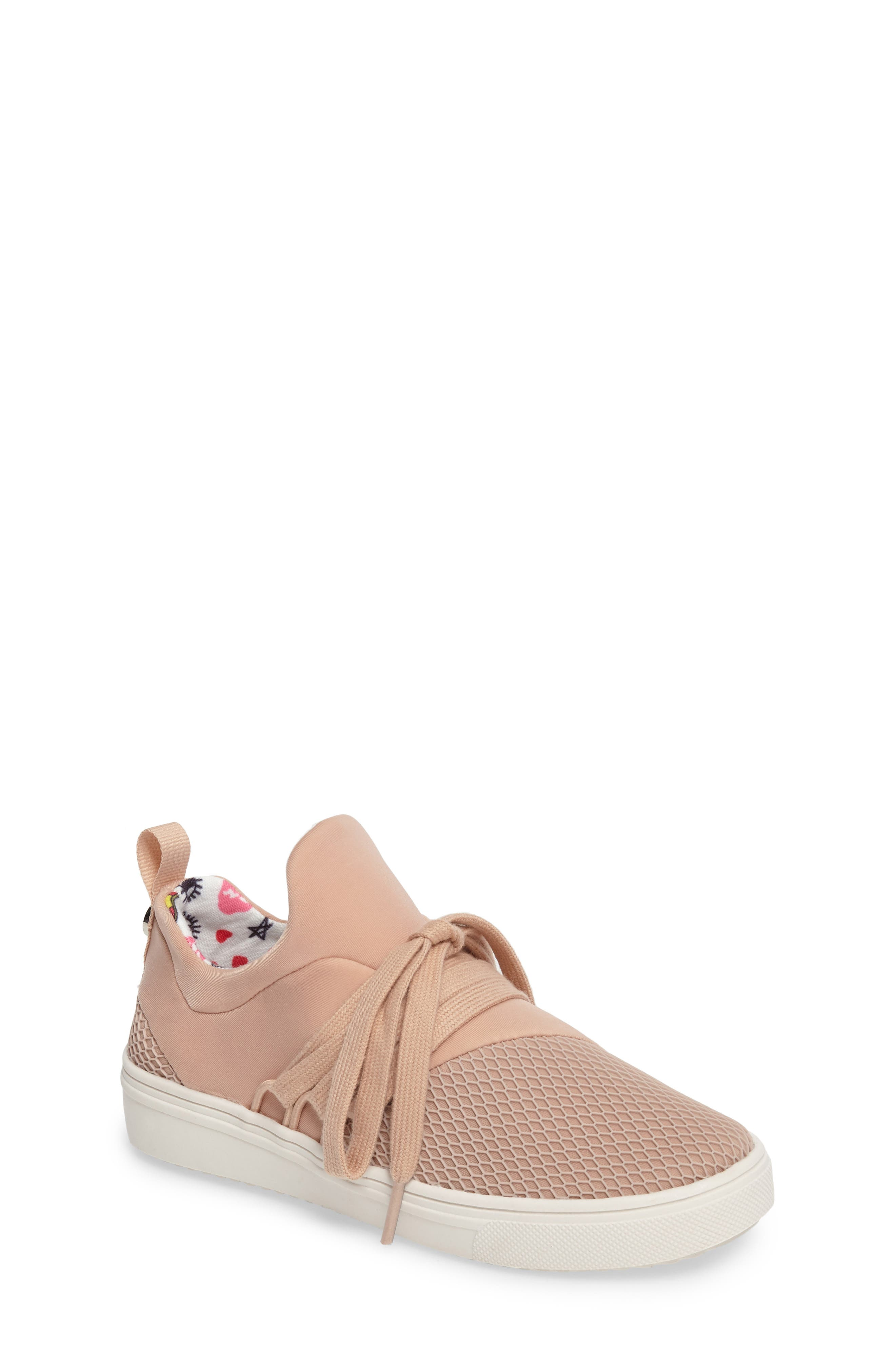 Lancer Mesh Sock-Fit Sneaker,                         Main,                         color, Blush